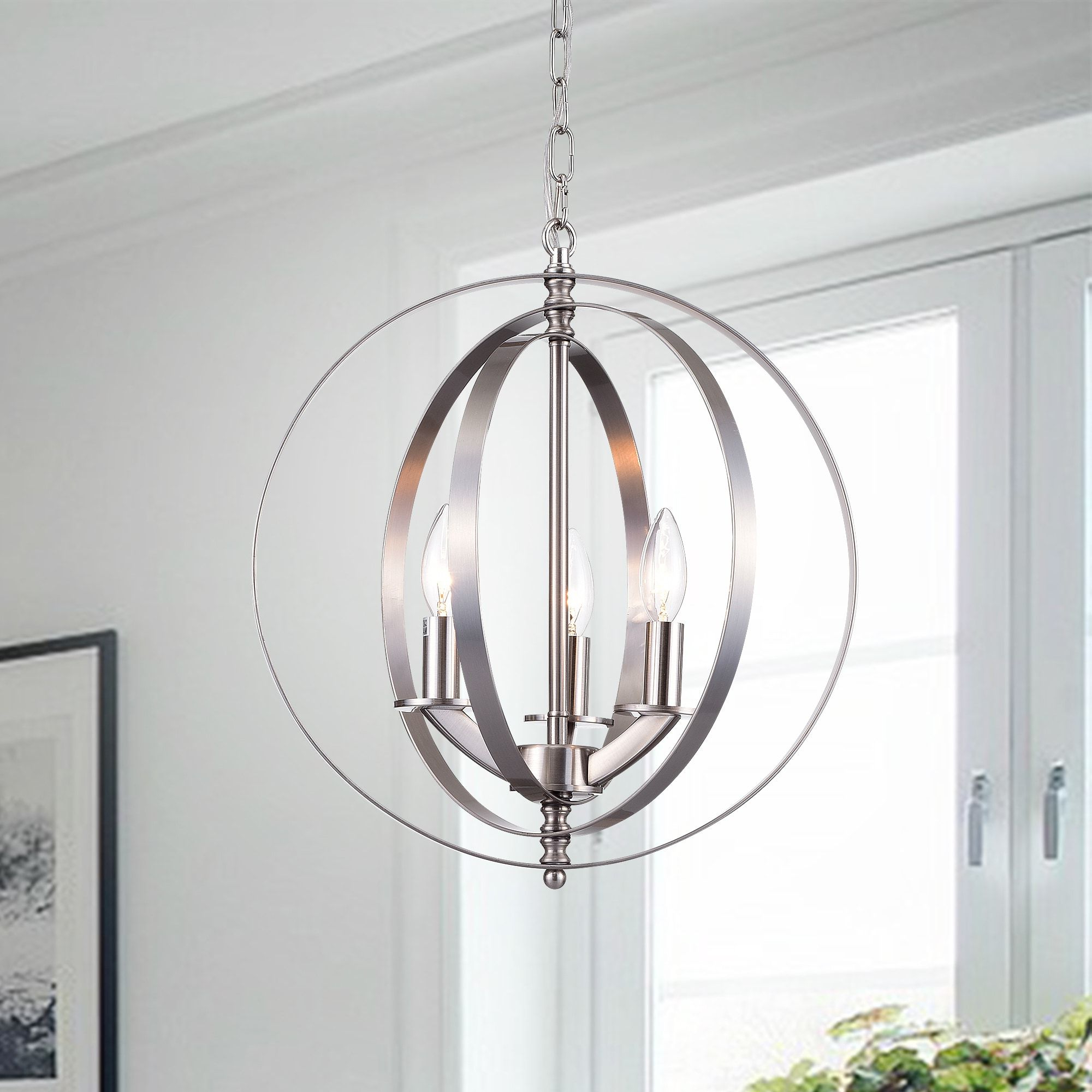 Well Liked Setsus Chrome 3 Light Chandelier Globe – Free Shipping Today For Morganti 4 Light Chandeliers (View 19 of 20)