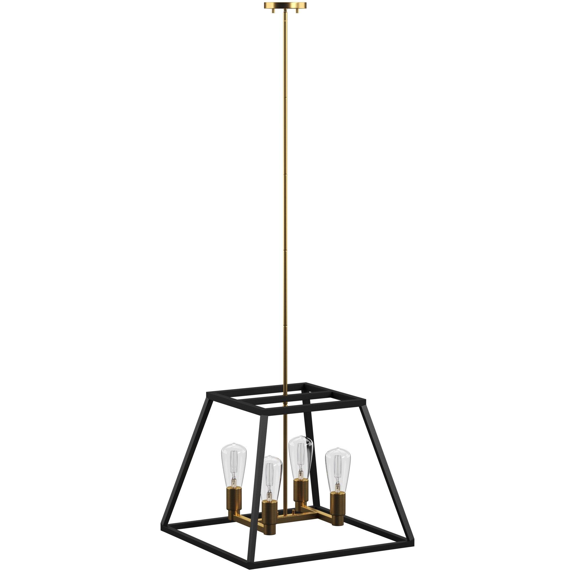 Well Liked Shisler 4 Light Square/rectangle Chandelier For Delon 4 Light Square Chandeliers (Gallery 6 of 20)