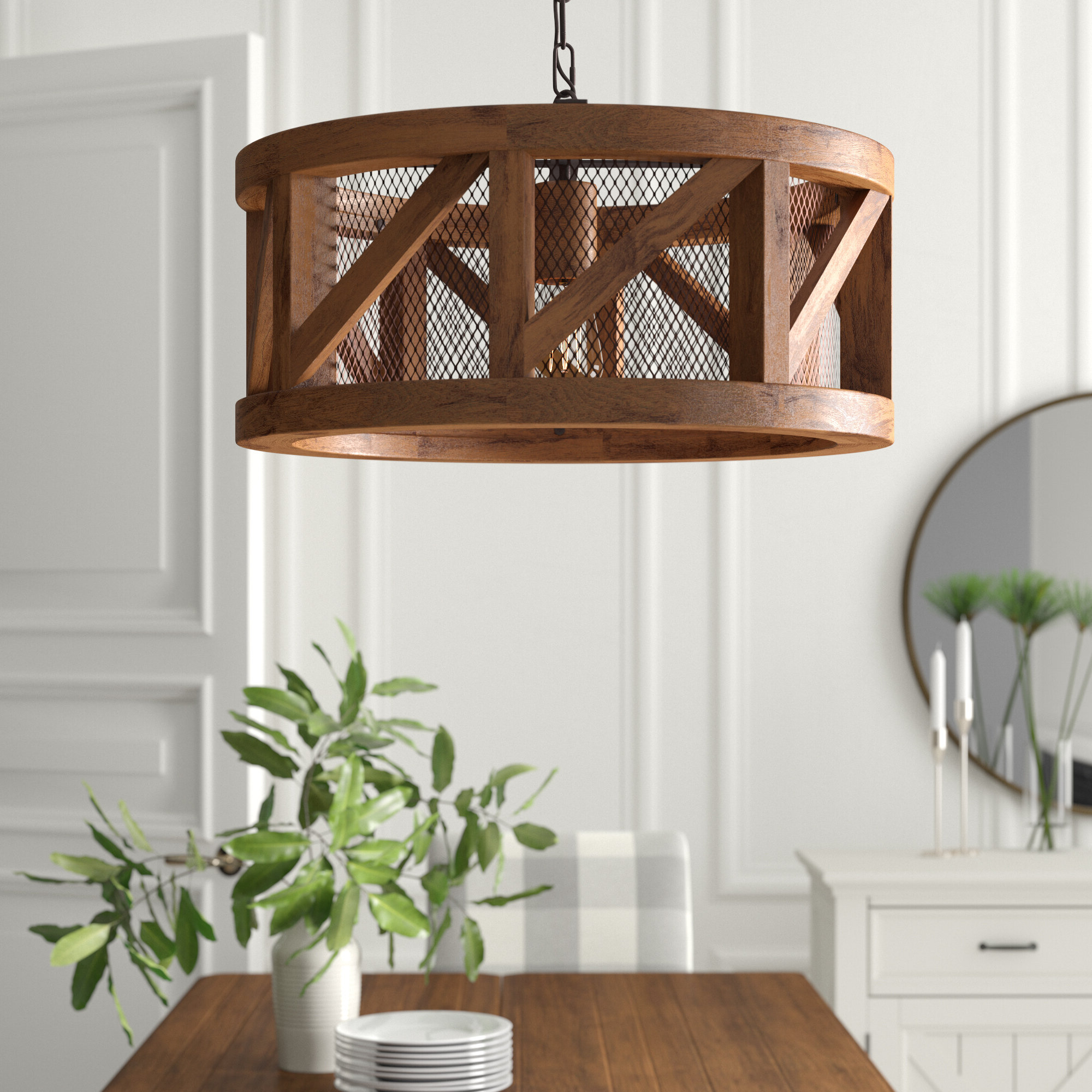 Well Liked Tadwick 3 Light Single Drum Chandeliers Within Tiefort 1 Light Single Drum Pendant (Gallery 8 of 20)