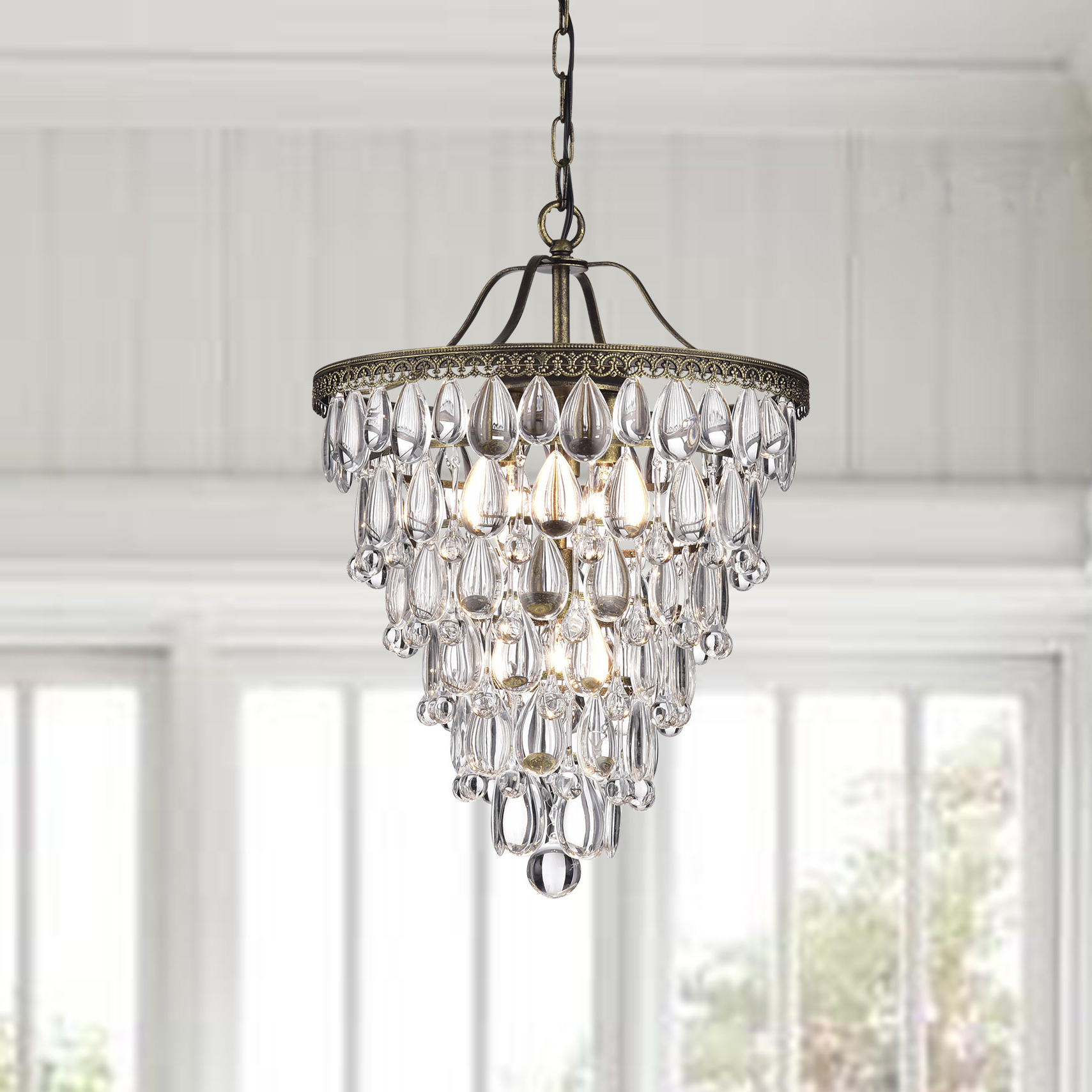 Well Liked Totnes 4 Light Crystal Chandelier Throughout Benedetto 5 Light Crystal Chandeliers (View 19 of 20)