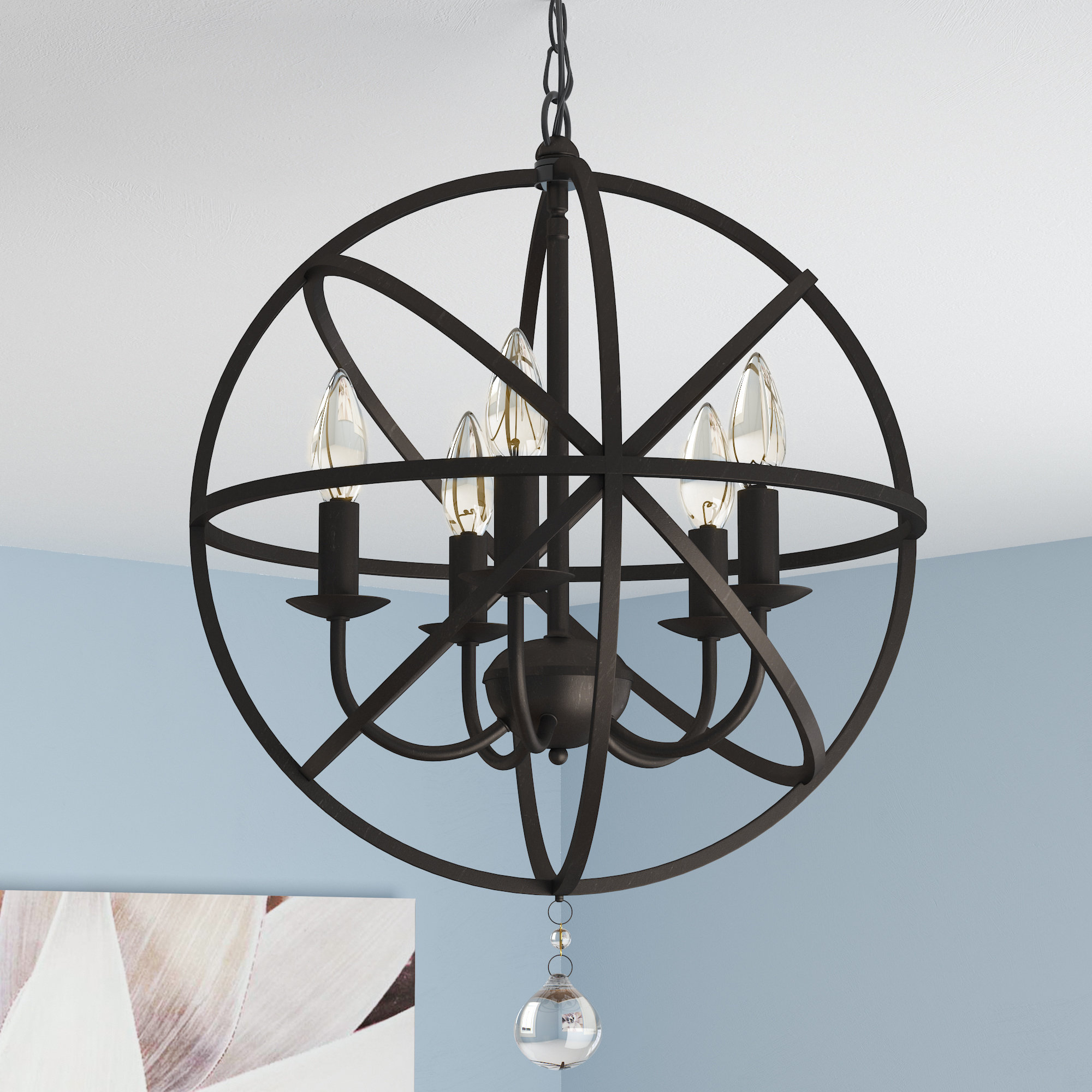 Well Liked Verlene Foyer 5 Light Globe Chandelier Regarding Verlene Foyer 5 Light Globe Chandeliers (Gallery 2 of 20)