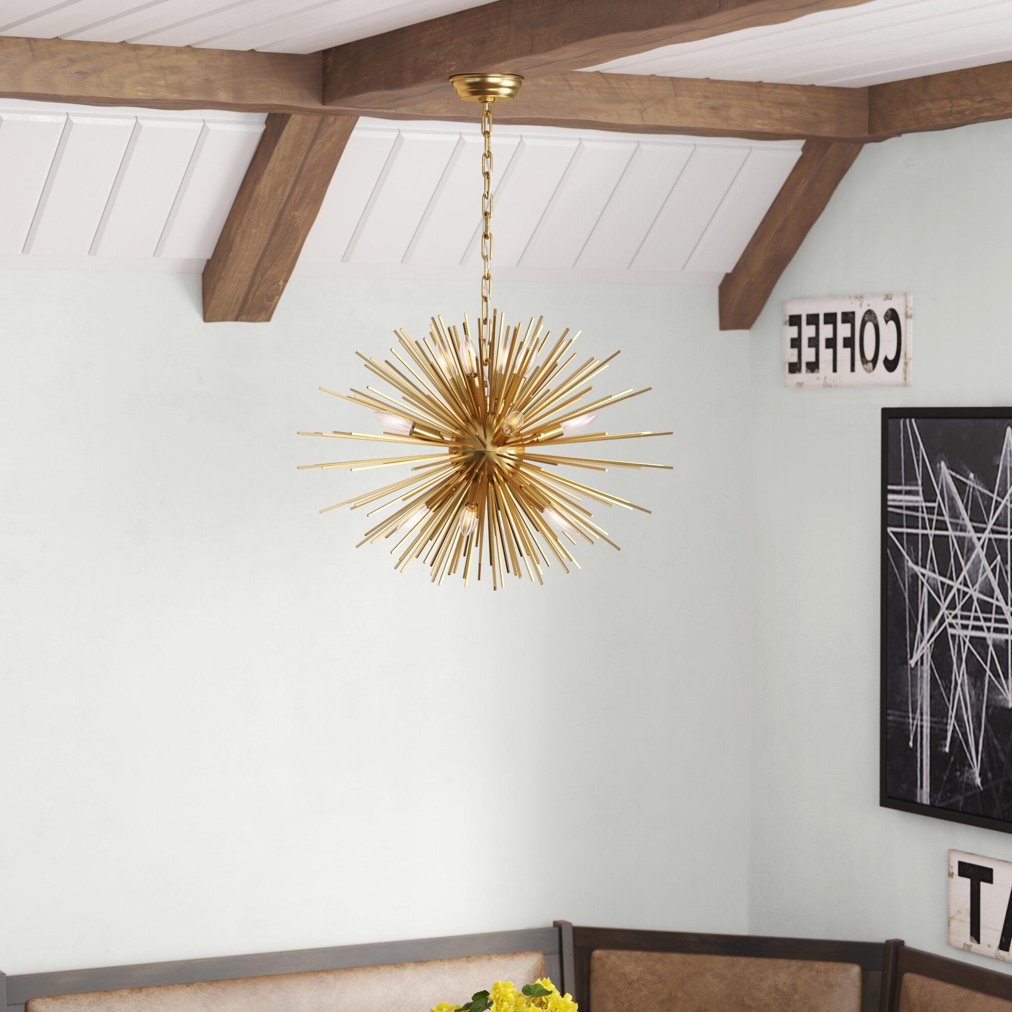 Wendler 12 Light Sputnik Chandelier In Current Nelly 12 Light Sputnik Chandeliers (Gallery 18 of 20)