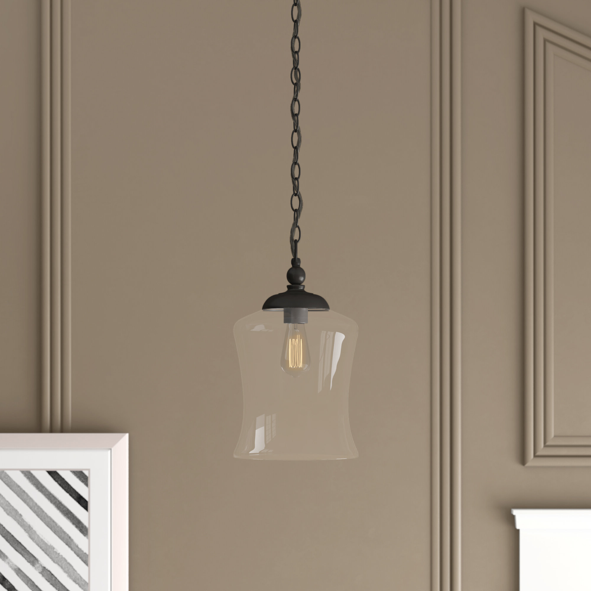 Wentzville 1 Light Single Bell Pendant With Regard To Famous Nolan 1 Light Single Cylinder Pendants (View 20 of 20)