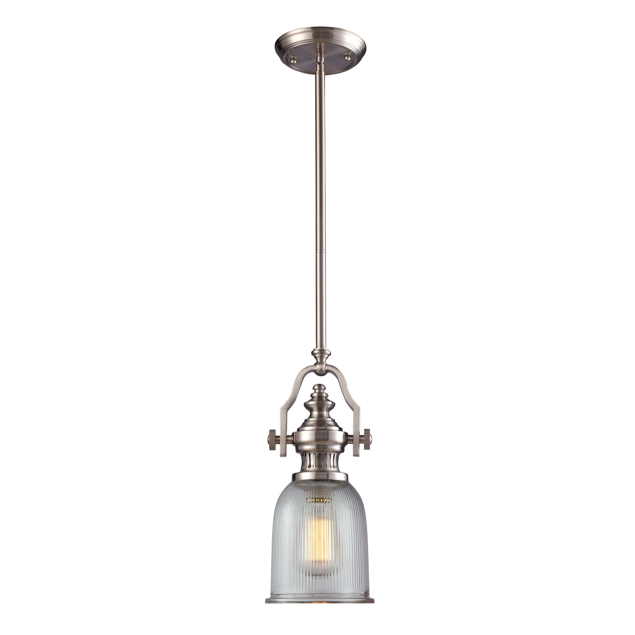 Wentzville 1 Light Single Bell Pendants Inside Recent Birch Lane™ Heritage Erico 1 Light Single Bell Pendant (View 14 of 20)