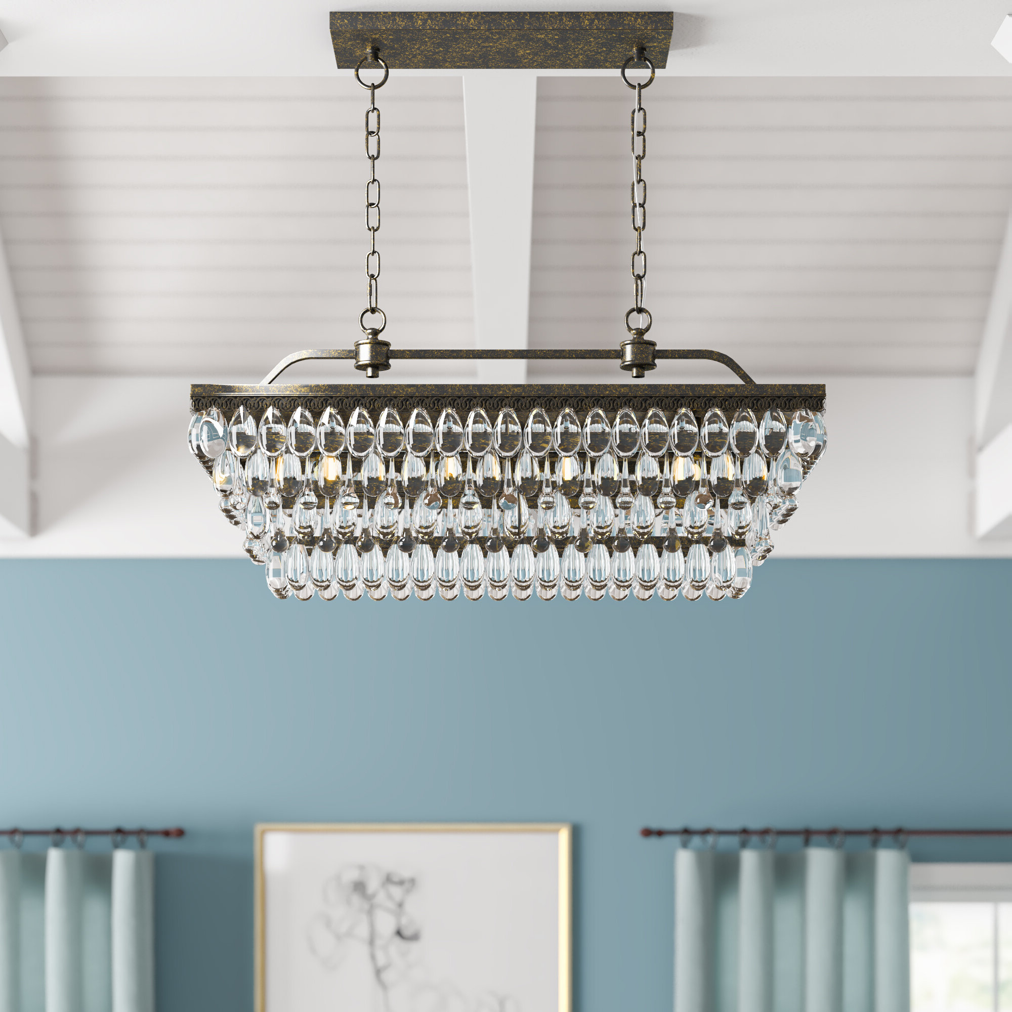 Whitten 4 Light Crystal Chandelier With Regard To Popular Whitten 4 Light Crystal Chandeliers (View 13 of 20)