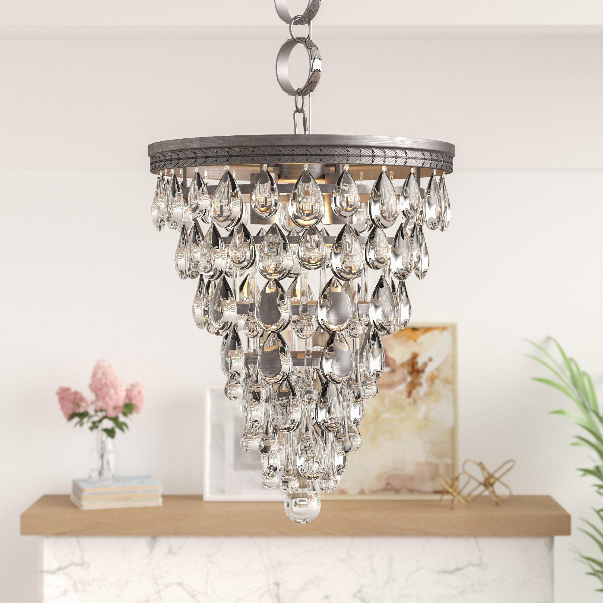 Whitten 4 Light Crystal Chandeliers In Fashionable Esmeraude 3 Light Crystal Chandelier (Gallery 16 of 20)