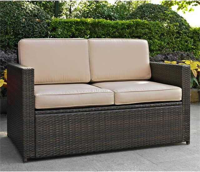 Wicker Loveseats Intended For Most Recently Released Palm Harbor Outdoor Wicker Loveseat, Sand (Gallery 11 of 20)