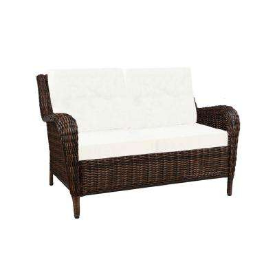 Wicker Loveseats With Regard To Latest Outdoor Loveseats – Outdoor Lounge Furniture – The Home Depot (View 2 of 20)