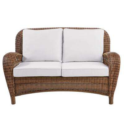 Wicker Loveseats With Trendy Outdoor Loveseats – Outdoor Lounge Furniture – The Home Depot (Gallery 1 of 20)
