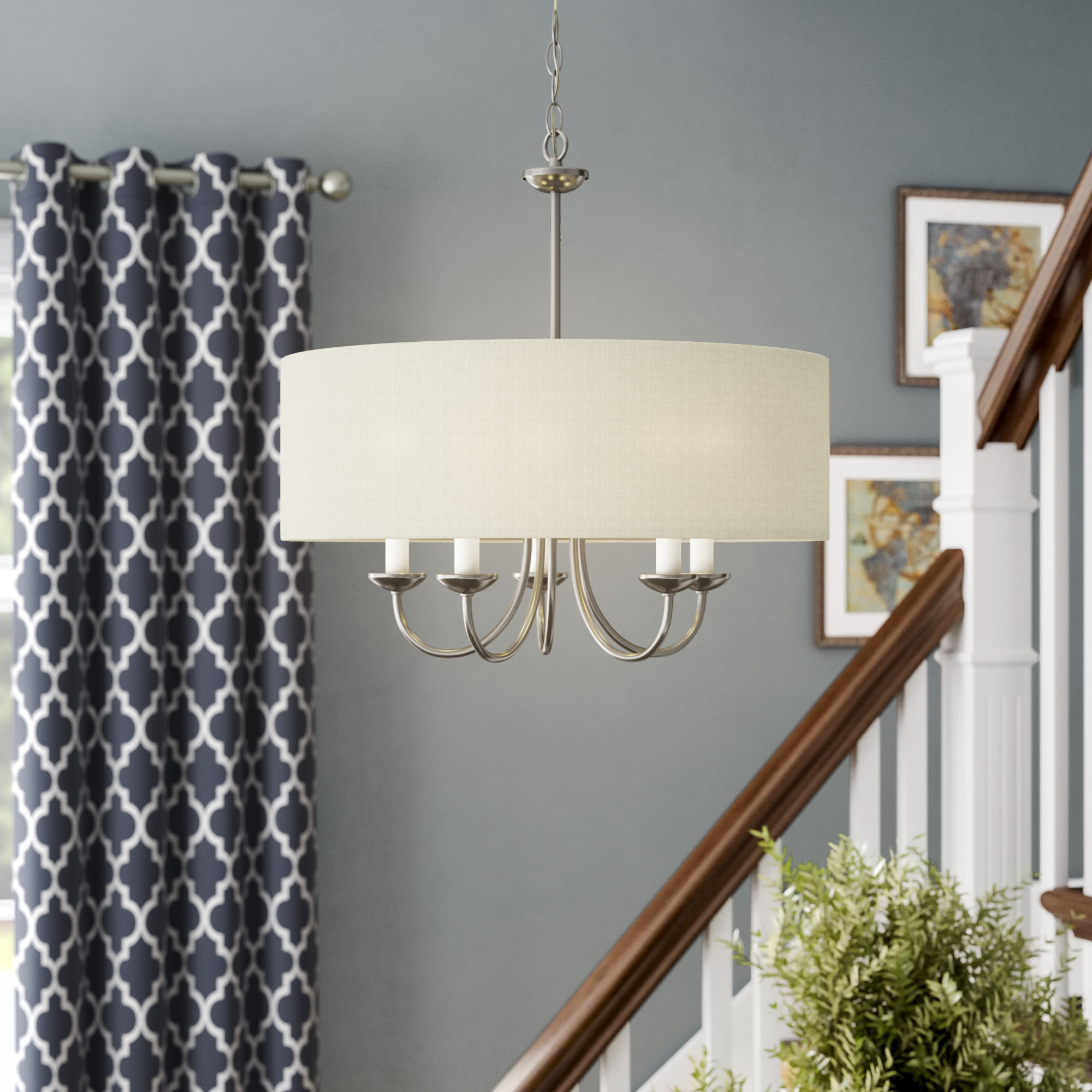 Widely Used Andover Mills Burton 5 Light Drum Chandelier For Burton 5 Light Drum Chandeliers (View 4 of 20)