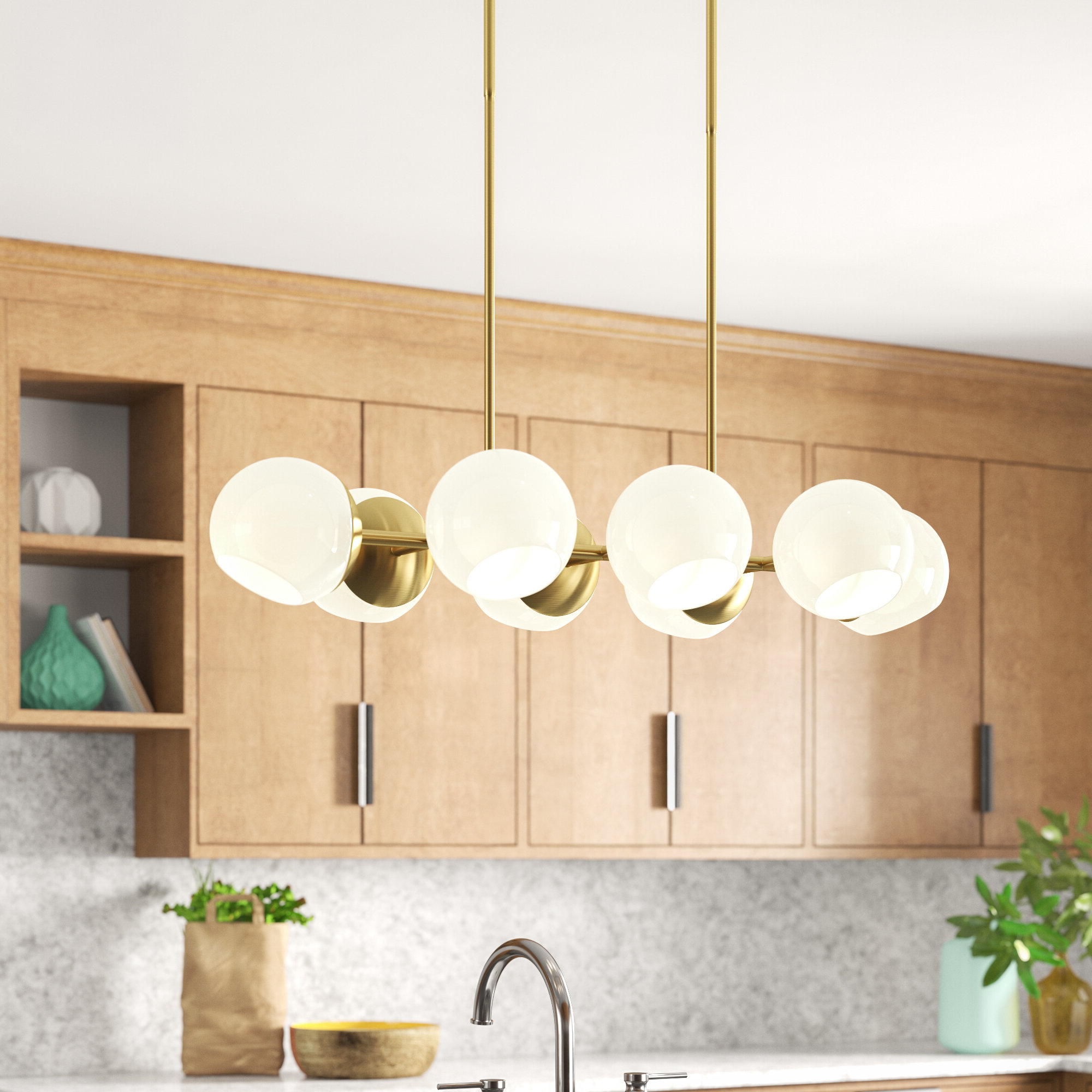 Widely Used Ashley 8 Light Kitchen Island Linear Pendant Intended For Neal 9 Light Kitchen Island Teardrop Pendants (Gallery 19 of 20)