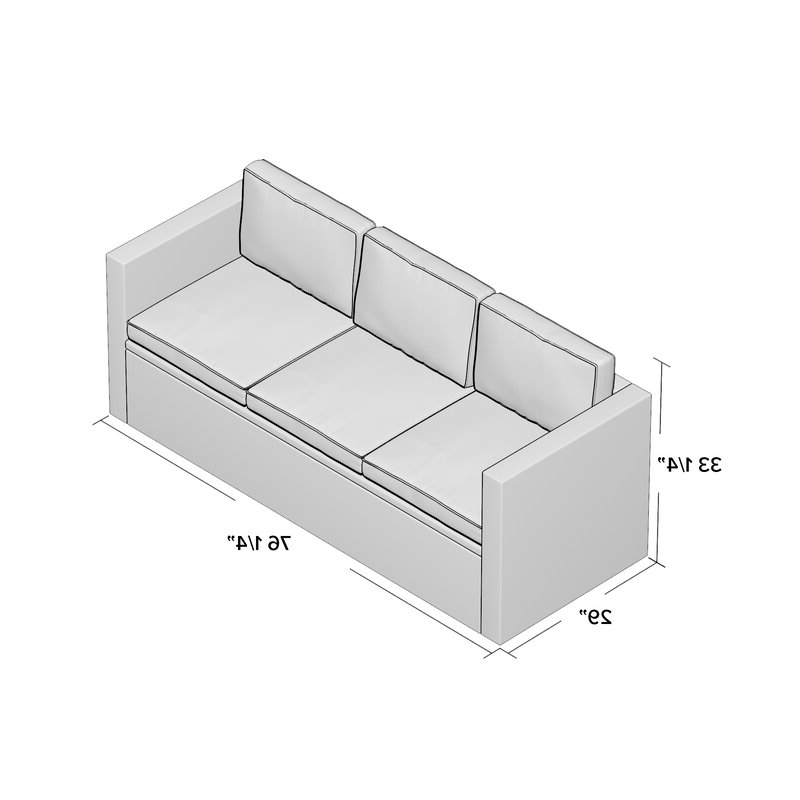 Widely Used Belton Patio Sofa With Cushions Throughout Belton Patio Sofas With Cushions (View 18 of 20)