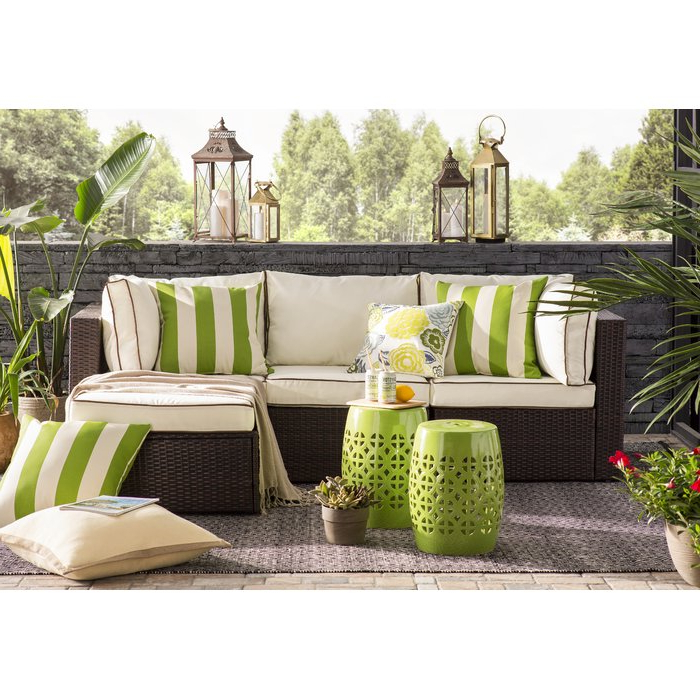 Widely Used Belton Patio Sofas With Cushions With Regard To Burruss Patio Sectional With Cushions (View 19 of 20)