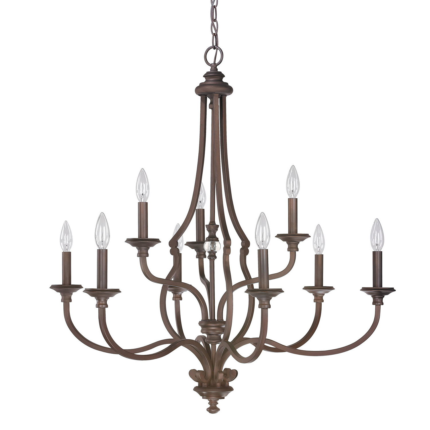 Widely Used Berger 5 Light Candle Style Chandeliers Throughout Jaclyn 9 Light Candle Style Chandelier (View 18 of 20)