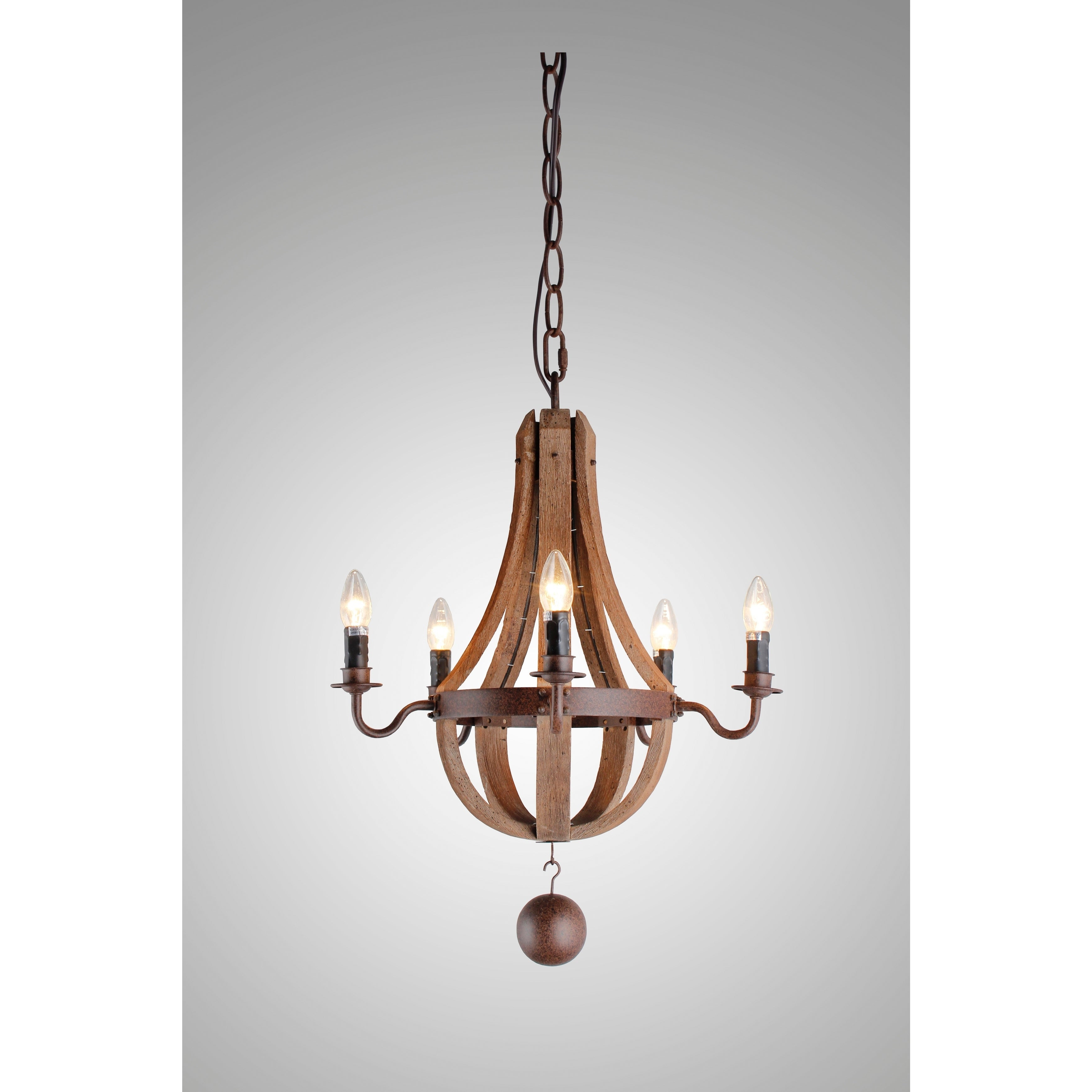 Widely Used Berger 5 Light Candle Style Chandeliers With Regard To Y Decor 5 Light Candle Style Chandelier In Iron Frame & Rustic Finish (View 17 of 20)