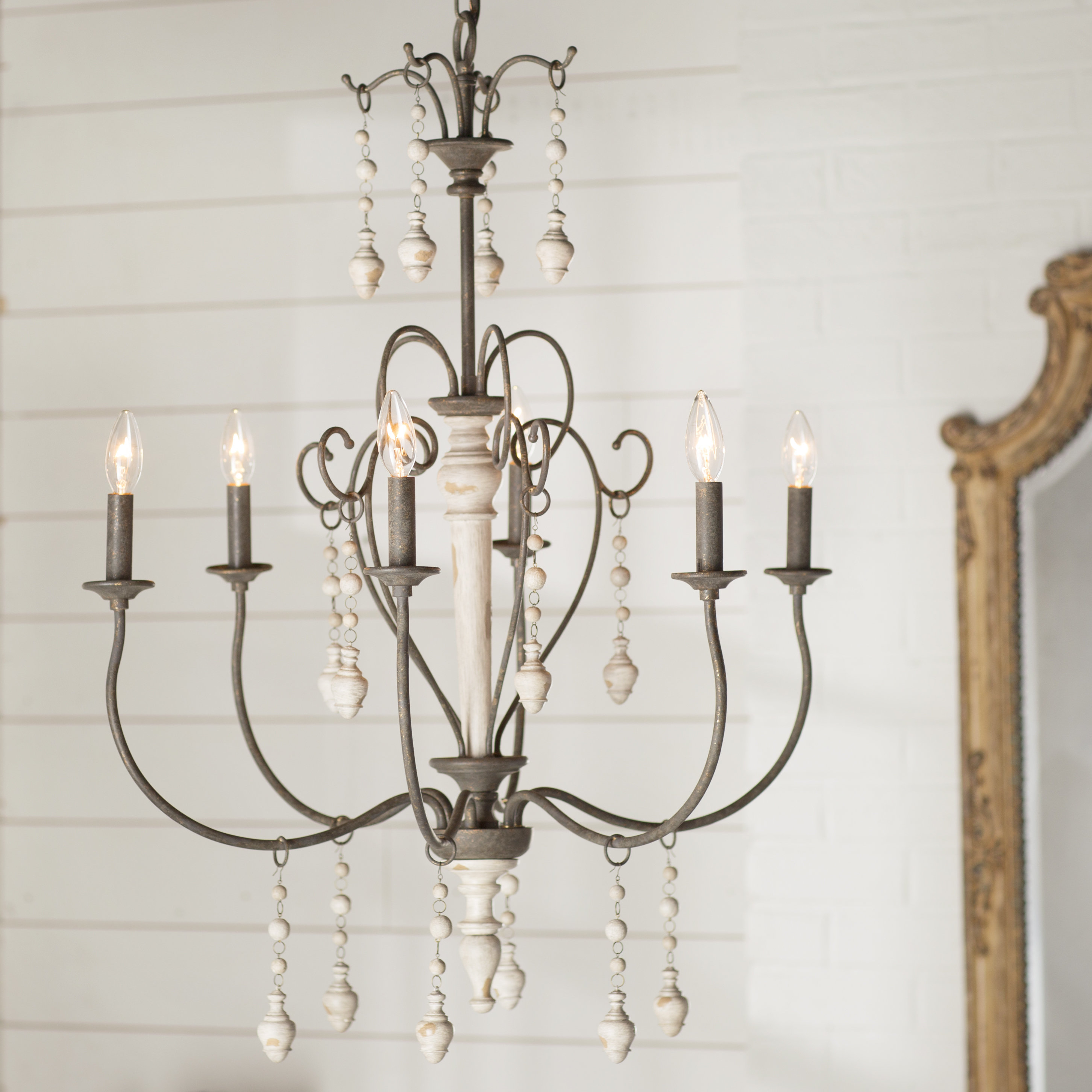 Featured Photo of Bouchette Traditional 6 Light Candle Style Chandeliers