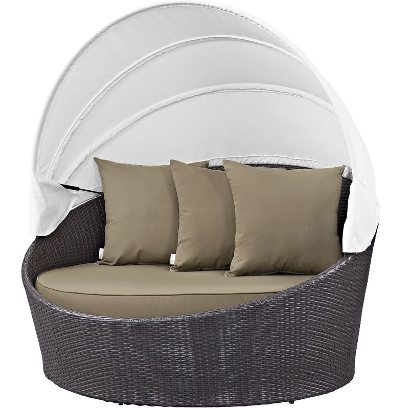 Widely Used Brentwood Patio Daybeds With Cushions With Brentwood Canopy Patio Daybed With Cushions (Gallery 20 of 20)