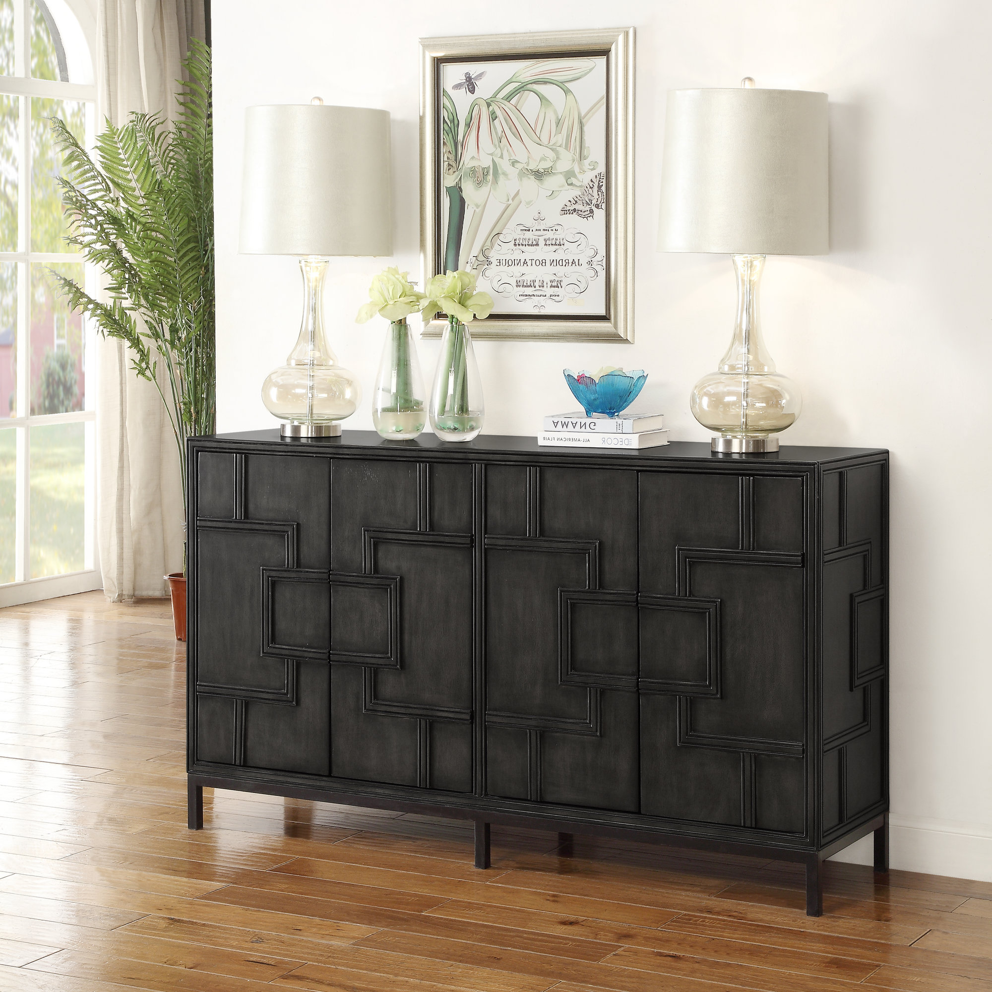 Widely Used Candide Wood Credenzas With Regard To Details About Bloomsbury Market Candide Wood Credenza (Gallery 1 of 20)
