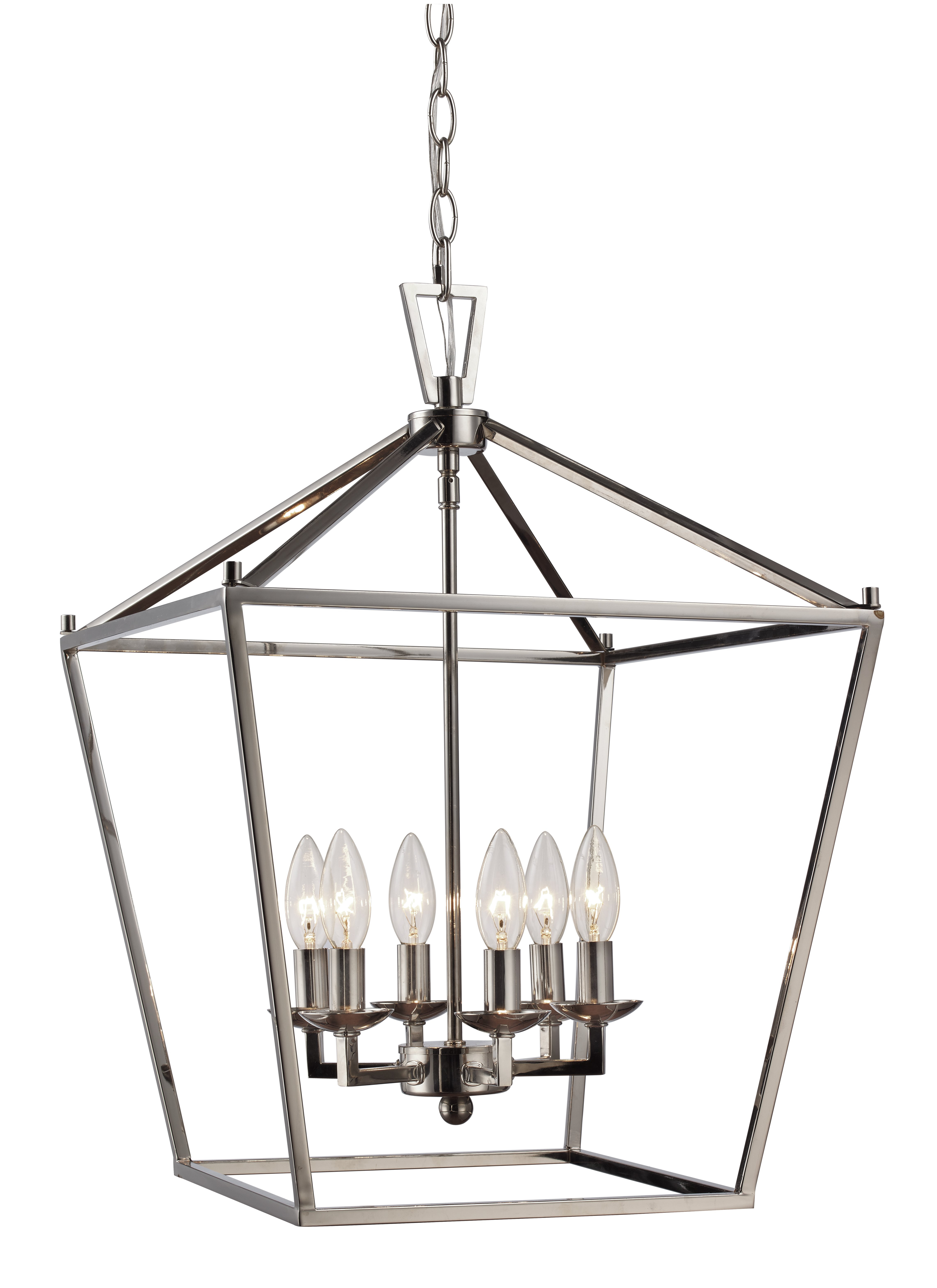 Widely Used Carmen 6 Light Lantern Geometric Pendants For Carmen 6 Light Lantern Geometric Pendant (View 4 of 20)