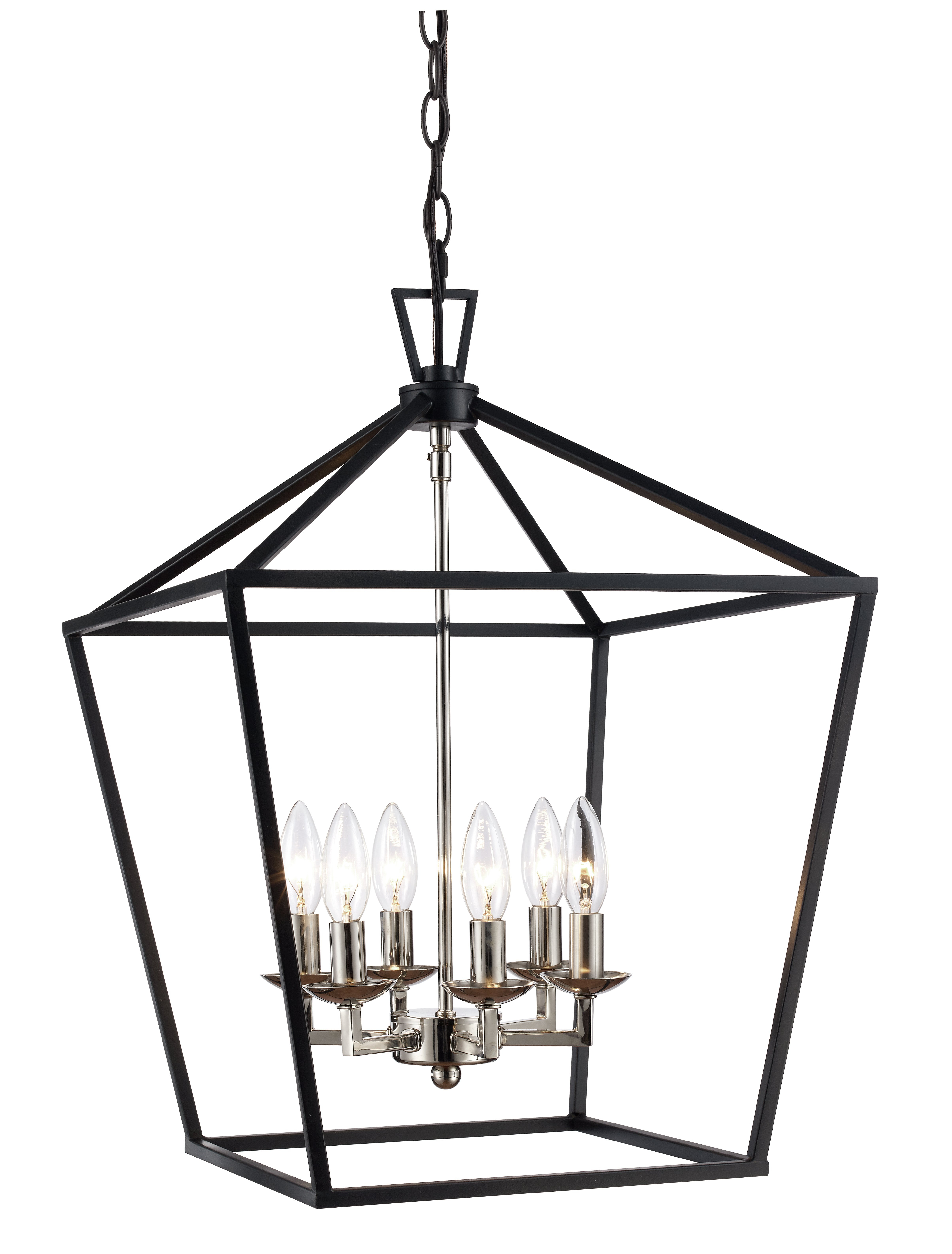 Widely Used Carmen 6 Light Lantern Geometric Pendants Pertaining To Carmen 6 Light Lantern Geometric Pendant (View 2 of 20)