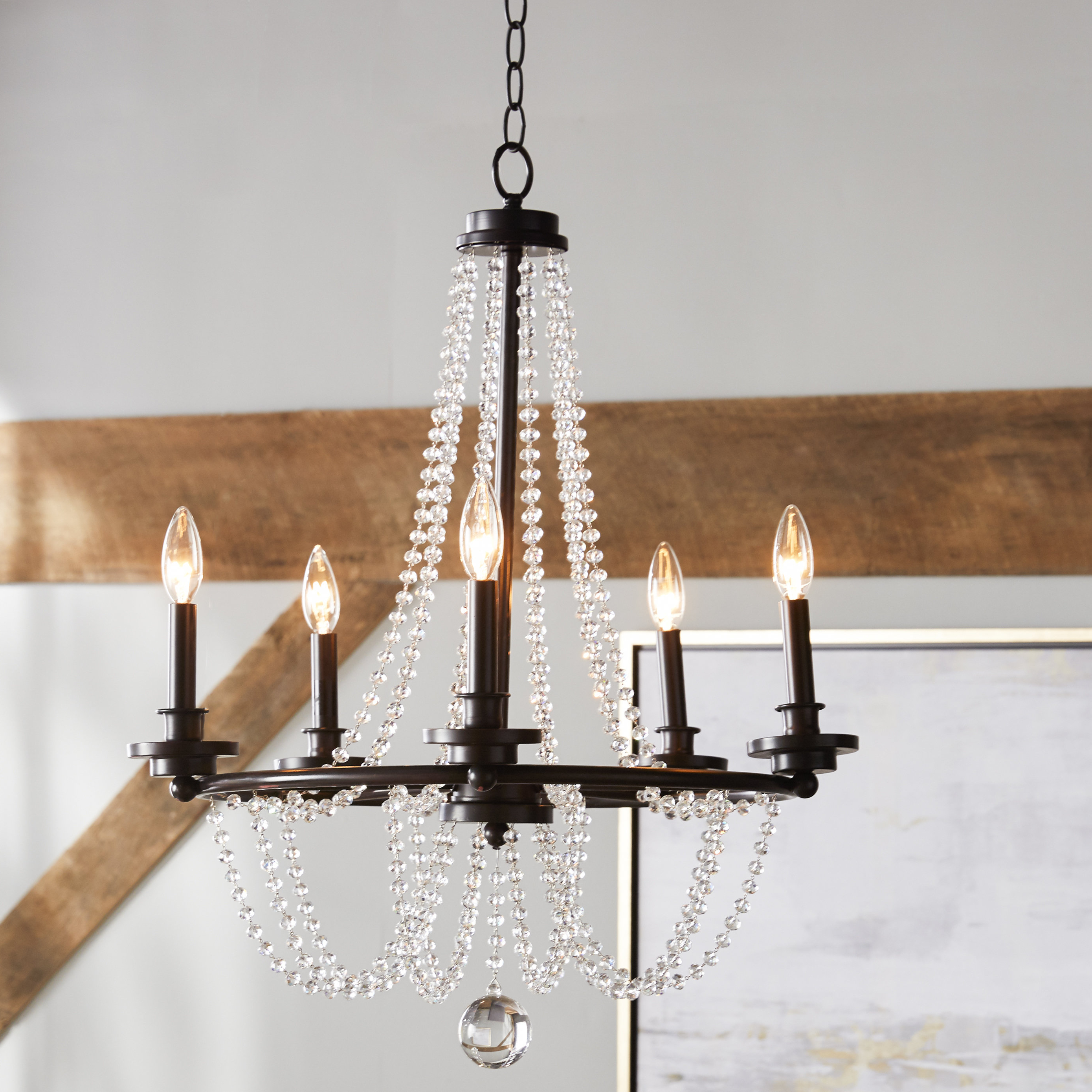Widely Used Corneau 5 Light Chandeliers For One Allium Way Byromville 5 Light Chandelier (Gallery 6 of 20)