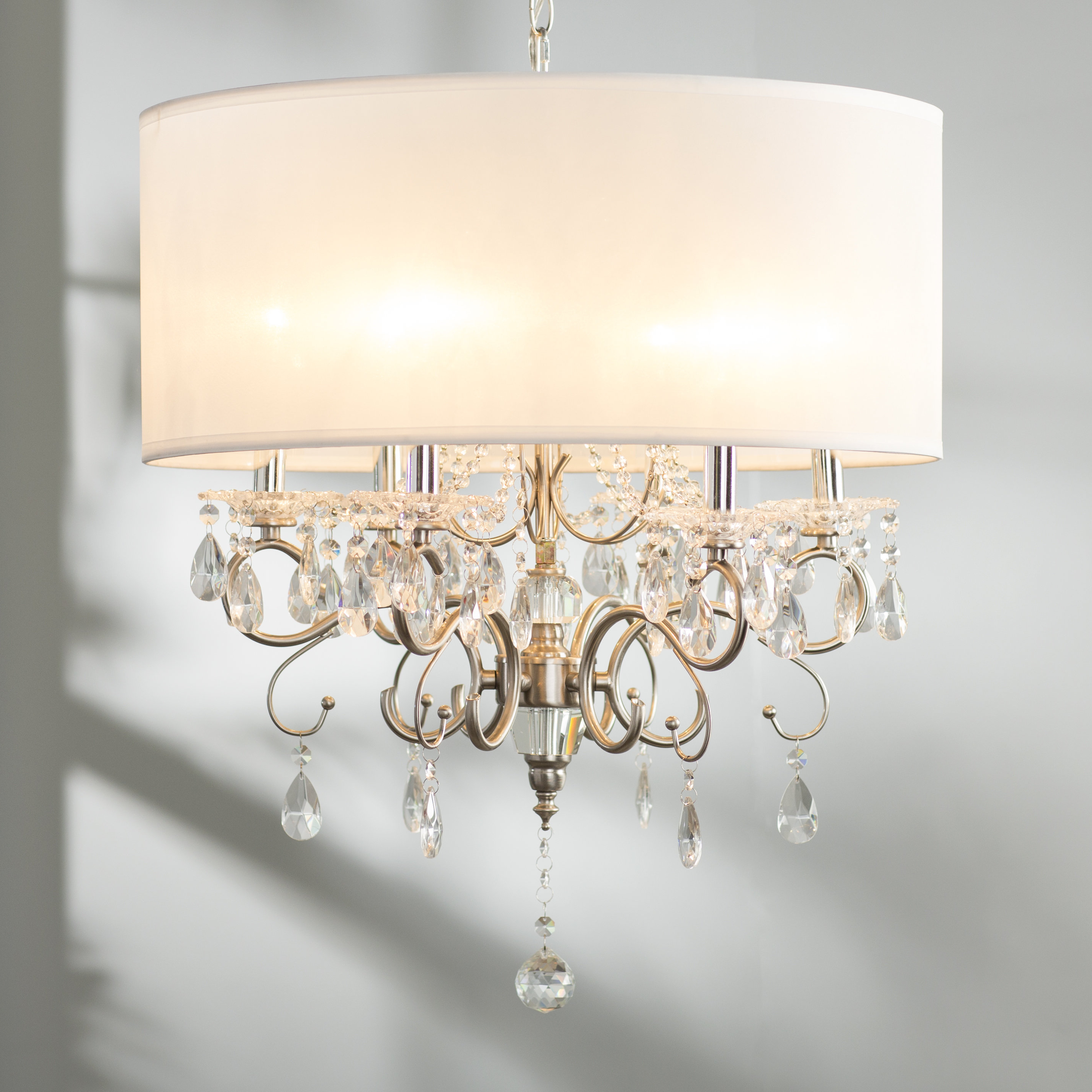 "Widely Used Dailey 4 Light Drum Chandeliers With Drum Large (Between 21"" – 30"" Wide) Chandeliers You'll Love (View 18 of 20)"