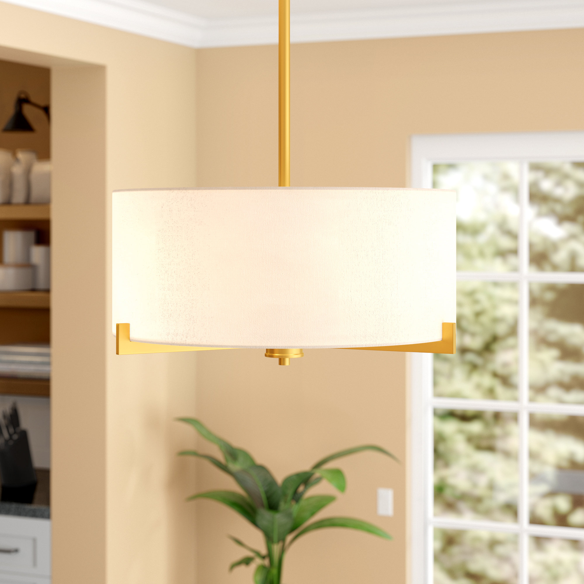 Widely Used Dirksen 3 Light Single Cylinder Chandeliers Pertaining To Avondale 3 Light Drum Chandelier (View 15 of 20)