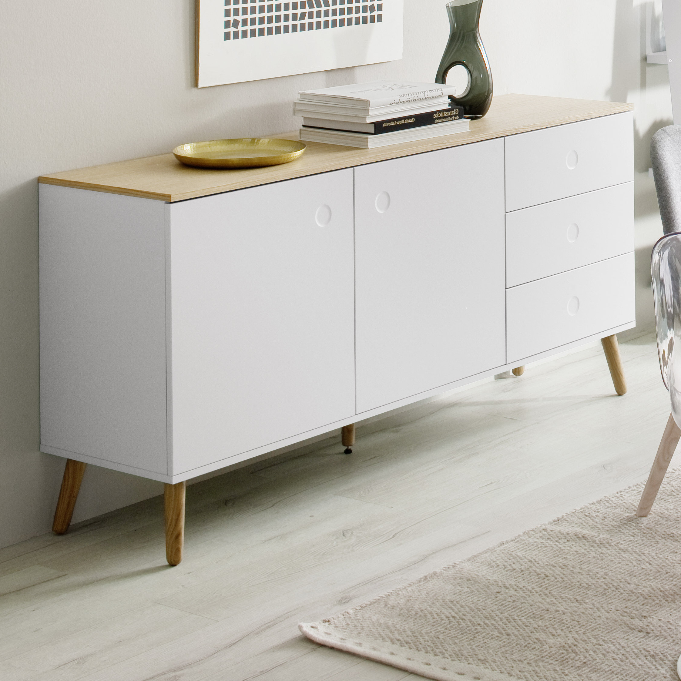 Widely Used Dowler 2 Drawer Sideboards For 6 Drawer Buffet (Gallery 17 of 20)