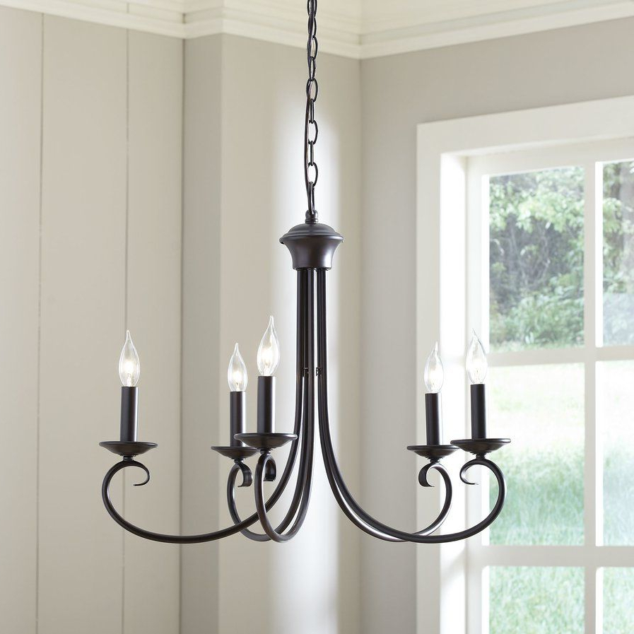 Widely Used Edgell 5 Light Candle Style Chandelier (View 18 of 20)