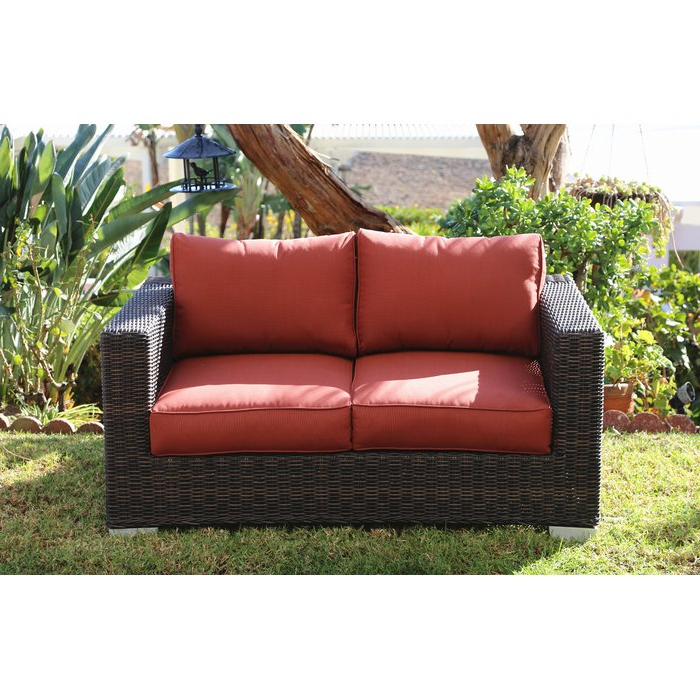 Widely Used Fults Loveseat With Cushion With Regard To Castelli Loveseats With Cushions (Gallery 18 of 20)