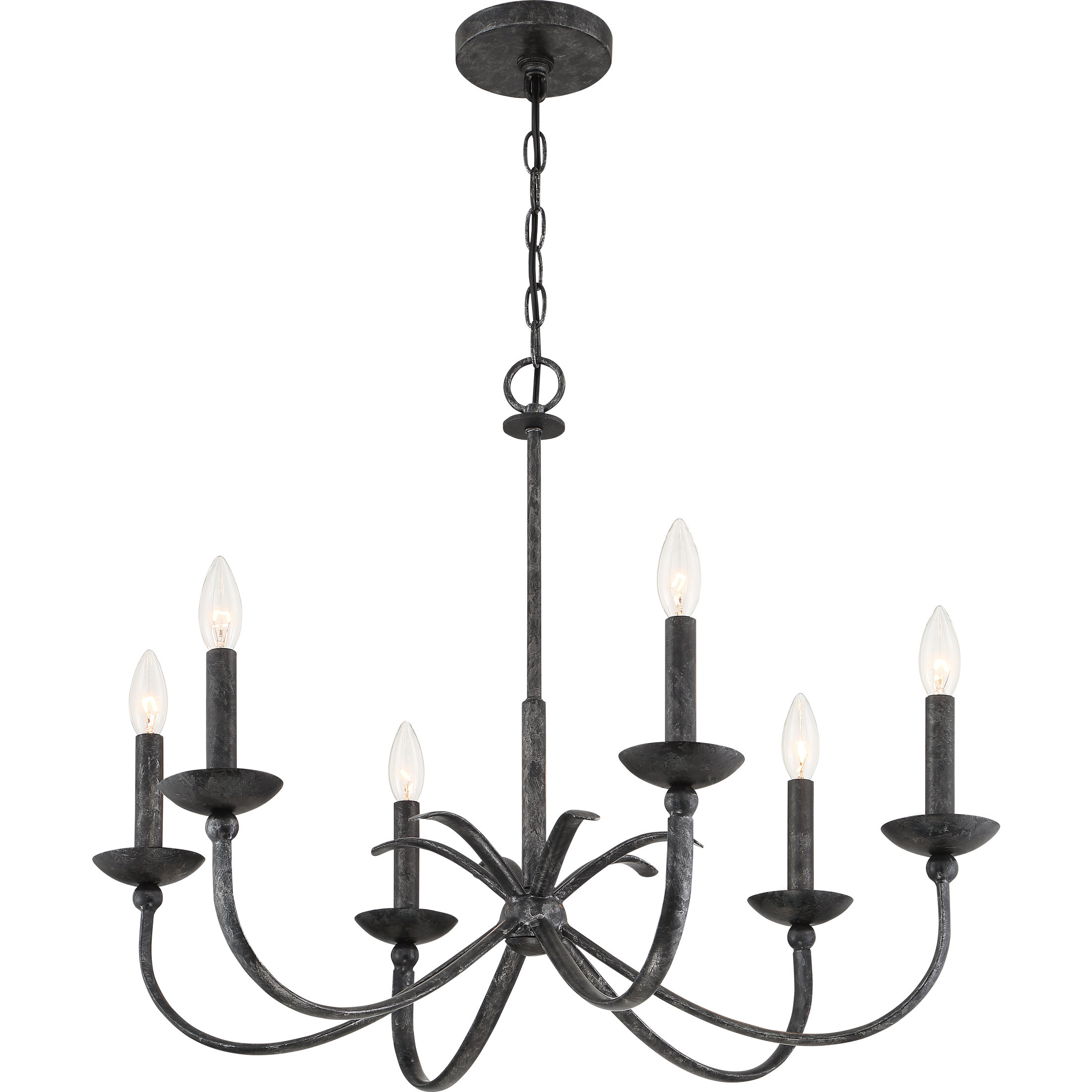 Widely Used Goodin 6 Light Candle Style Chandelier Inside Perseus 6 Light Candle Style Chandeliers (View 8 of 20)