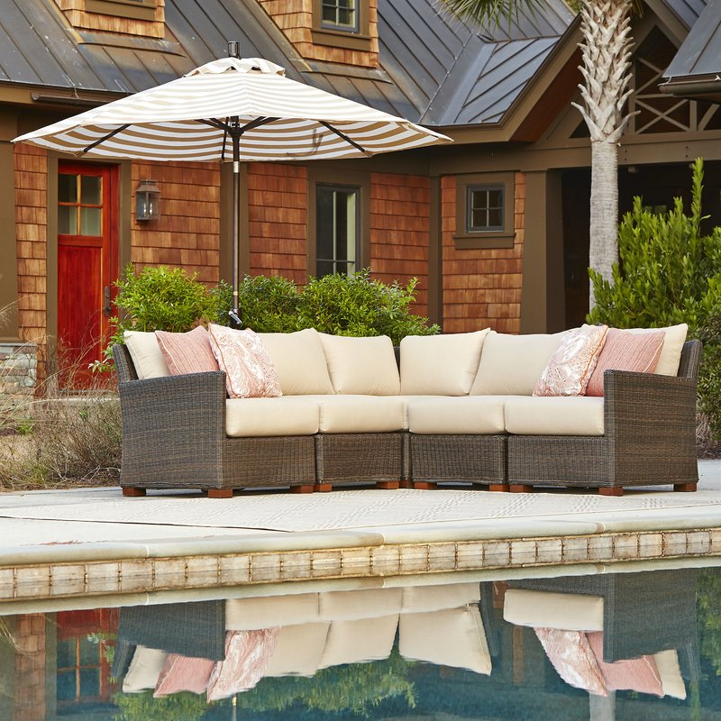 Widely Used Gretchen Patio Sectional With Cushions With Michal Patio Sofas With Cushions (View 19 of 20)