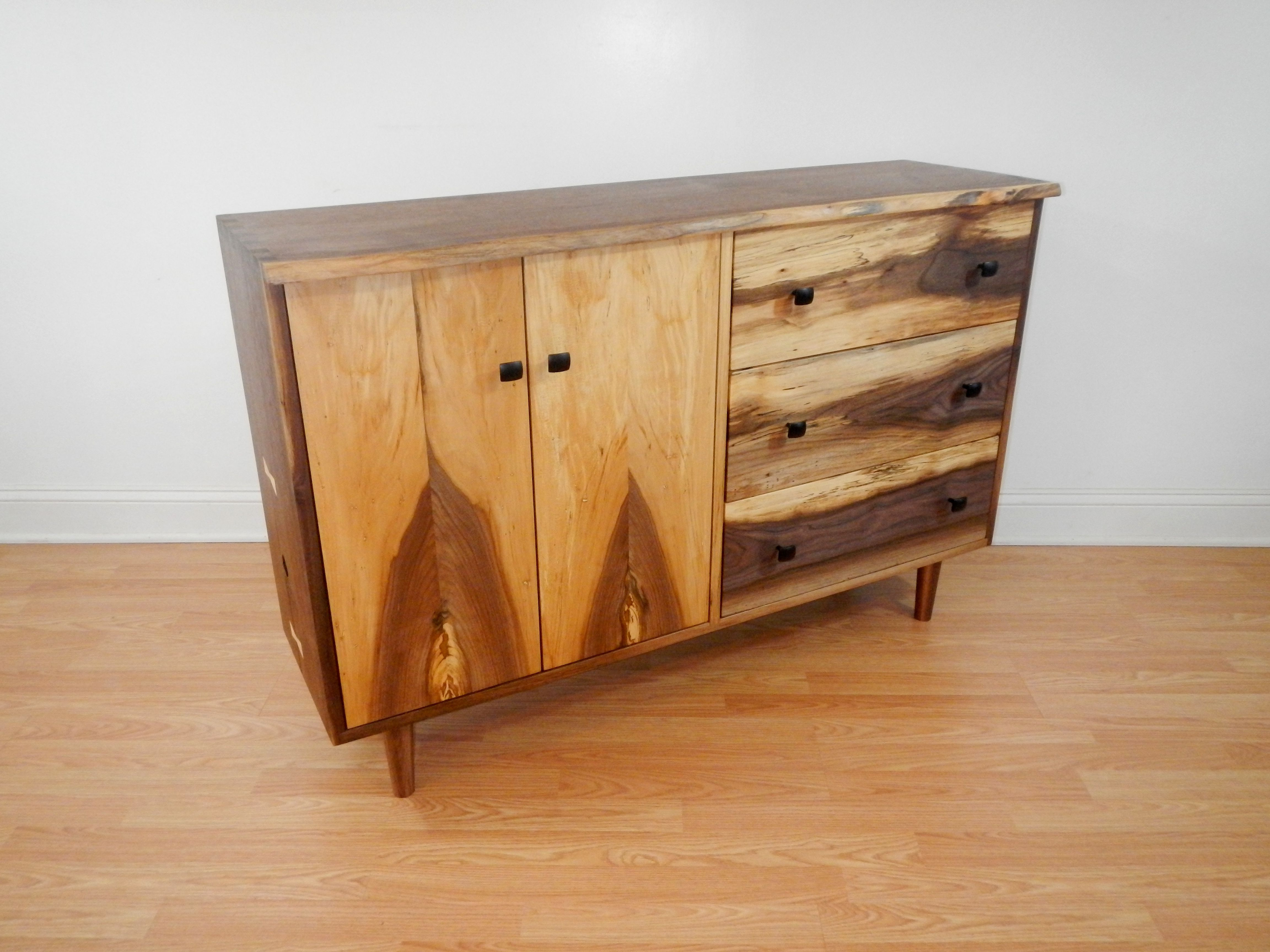Widely Used Hand Crafted Mid Century Modern Style Credenza With Hand Cut With Stephen Credenzas (Gallery 5 of 20)