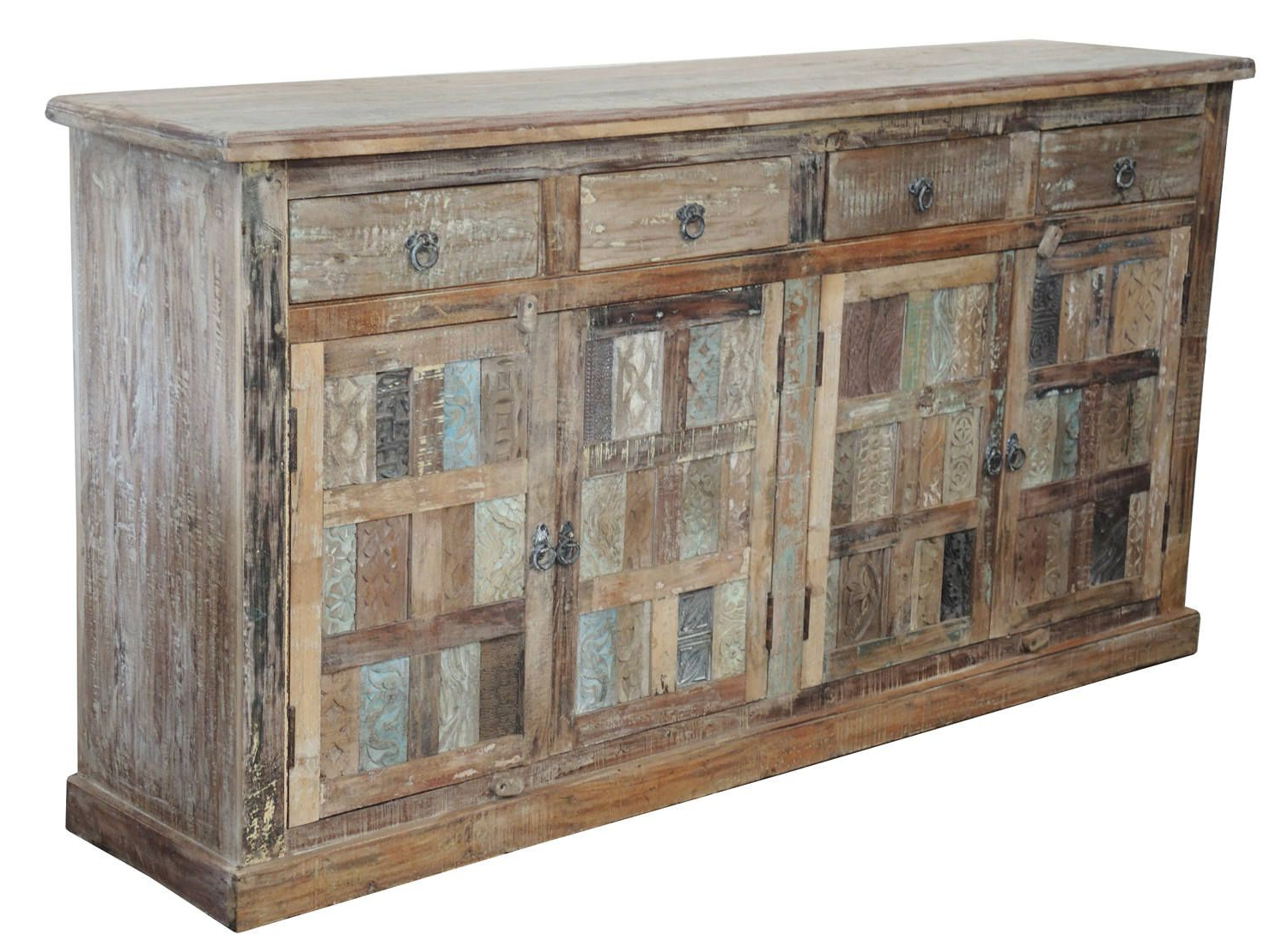 Widely Used Hayslett Sideboards Regarding Light Distressed Indian Teak Cabinet From Terra Nova Designs (View 20 of 20)
