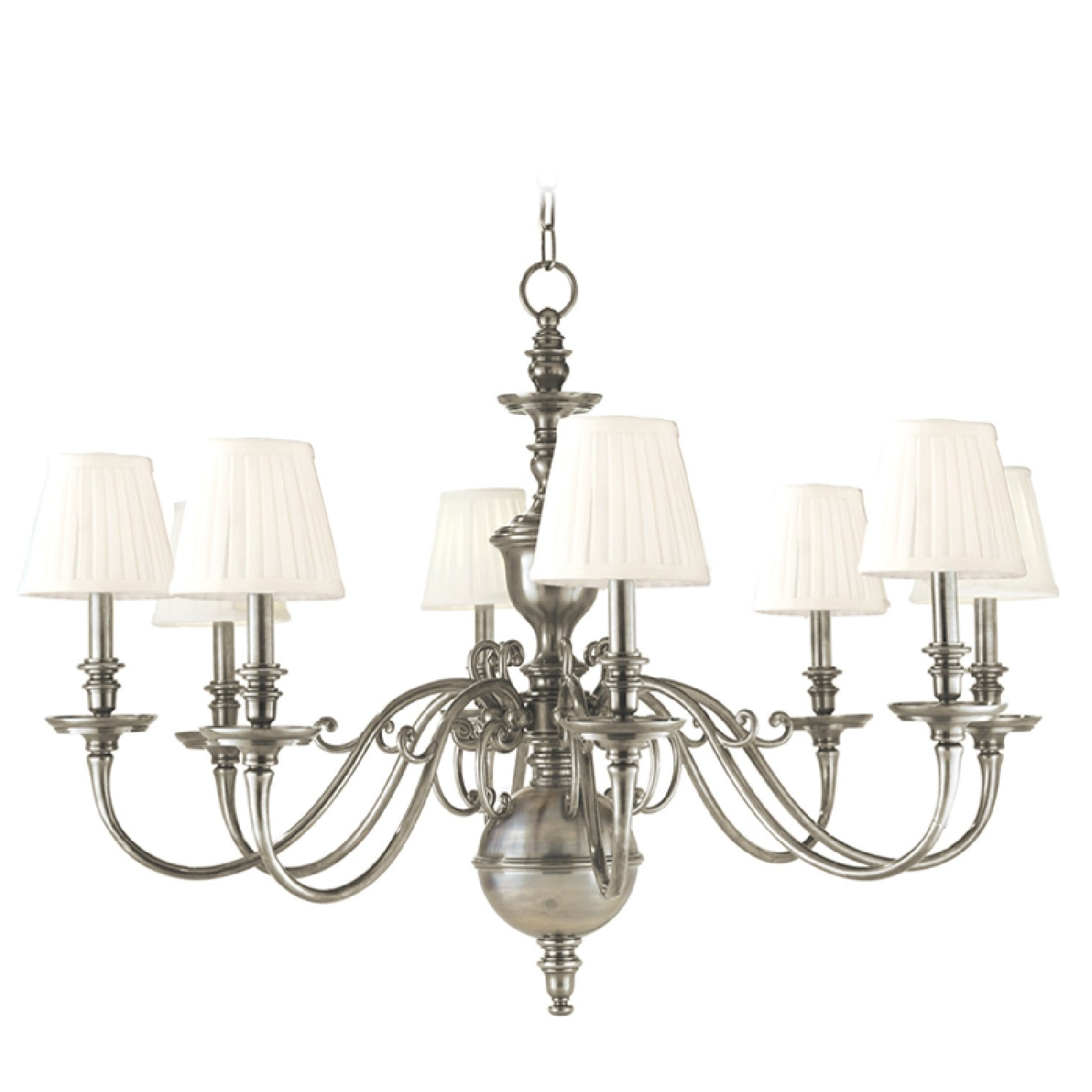 Widely Used Hudson Valley Charleston 8 Light Chandelier, Historic Nickel Regarding Millbrook 5 Light Shaded Chandeliers (View 20 of 20)
