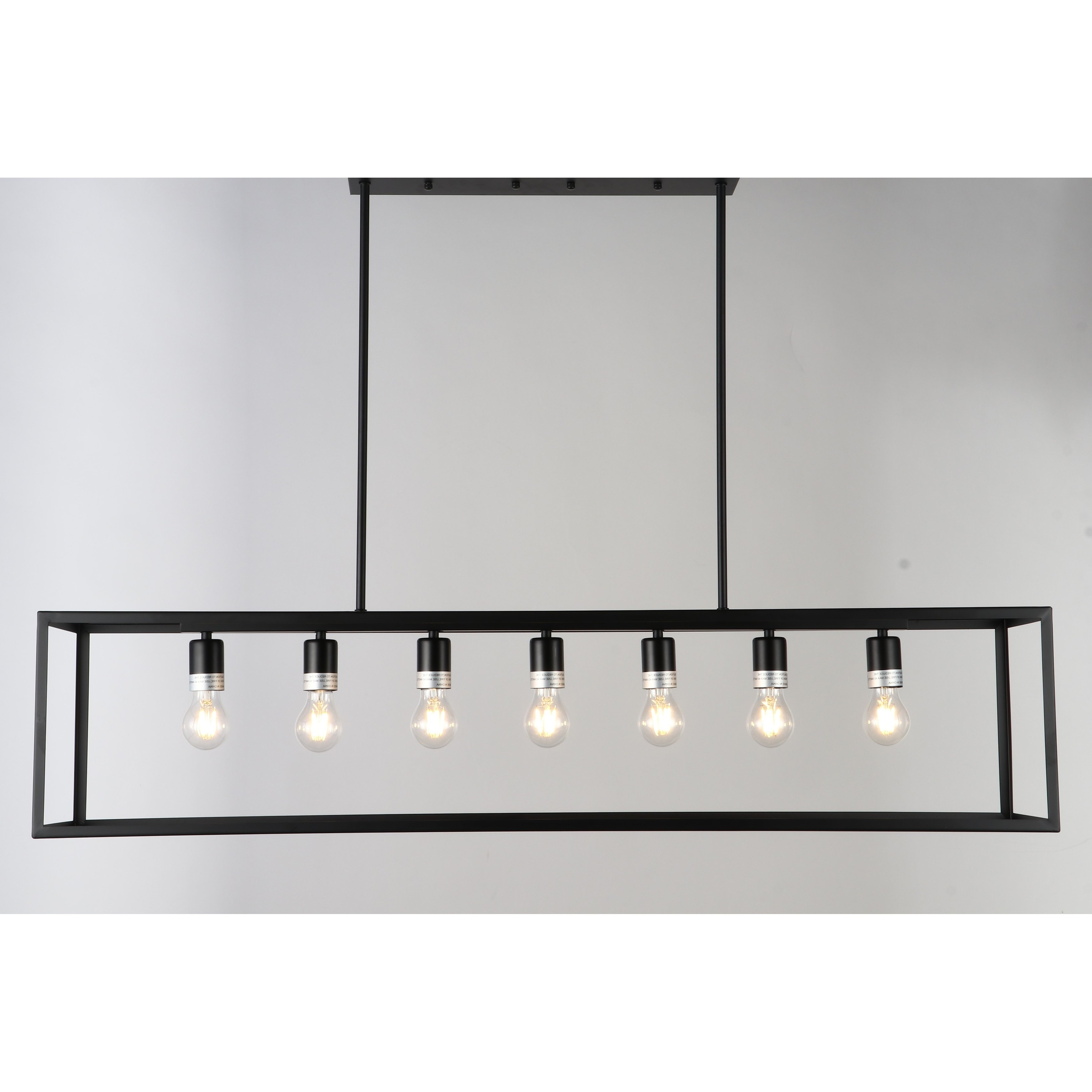 Widely Used Jl Styles Inc Black 7 Light Contemporary Pendant Light In Within Bouvet 5 Light Kitchen Island Linear Pendants (View 20 of 20)