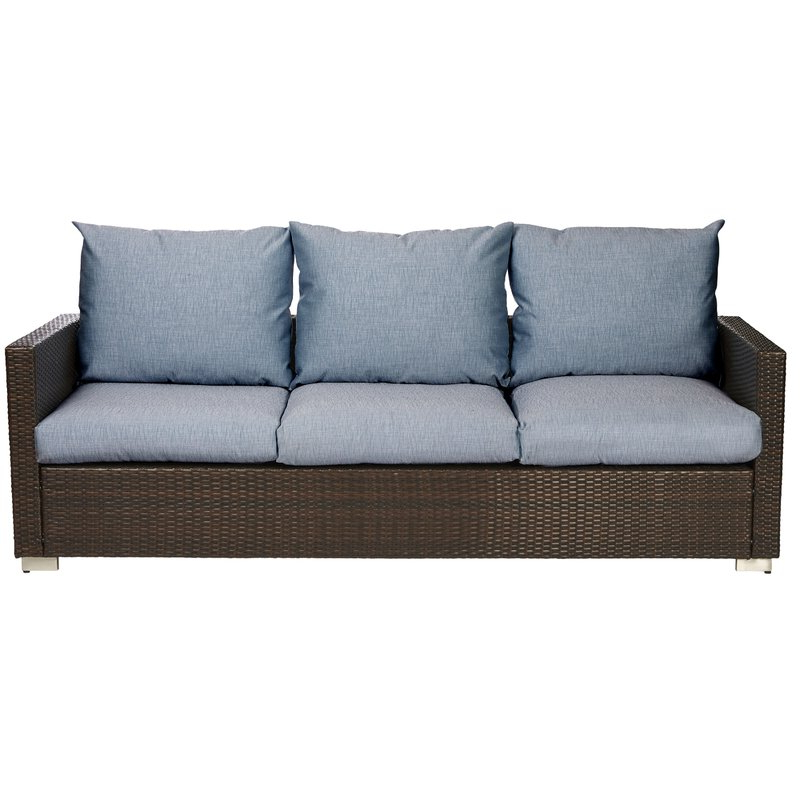 Widely Used Katzer Patio Sofas With Cushions In Mcmanis Patio Sofa With Cushion (Gallery 12 of 20)