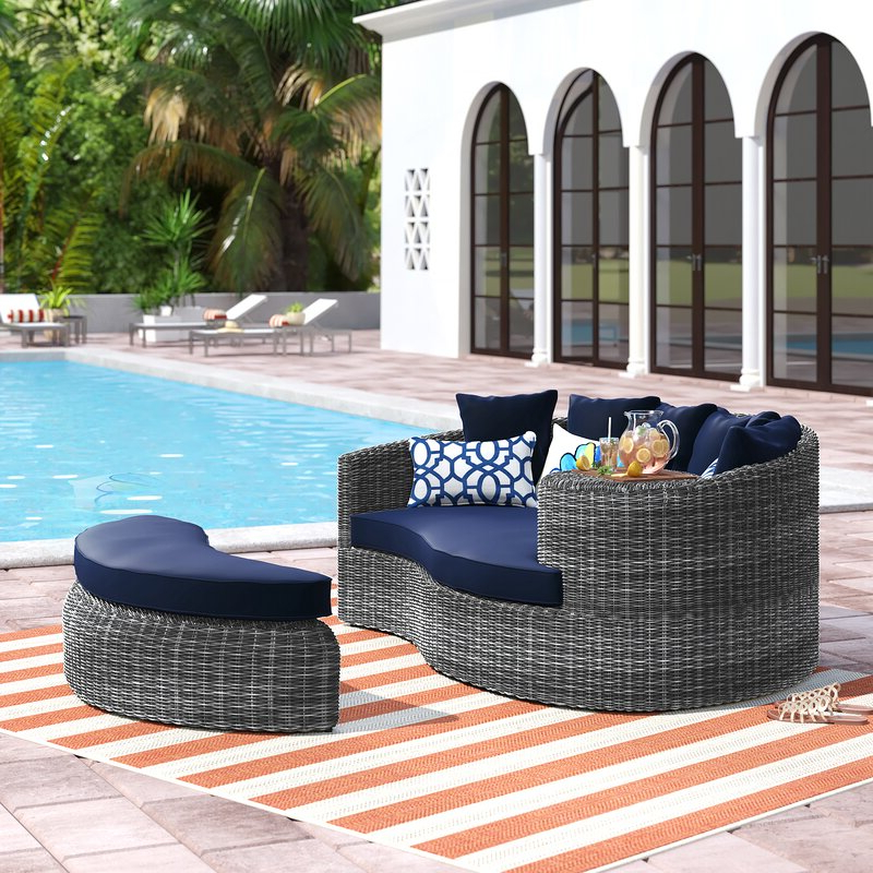 Featured Photo of Keiran Patio Daybeds With Cushions