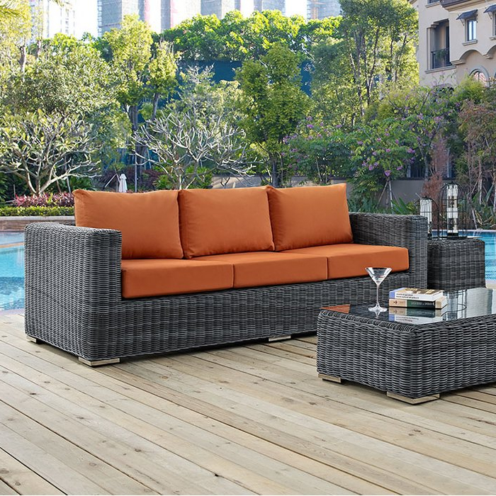 Widely Used Keiran Patio Sofas With Cushions With Regard To Keiran Patio Sofa With Cushions (View 20 of 20)