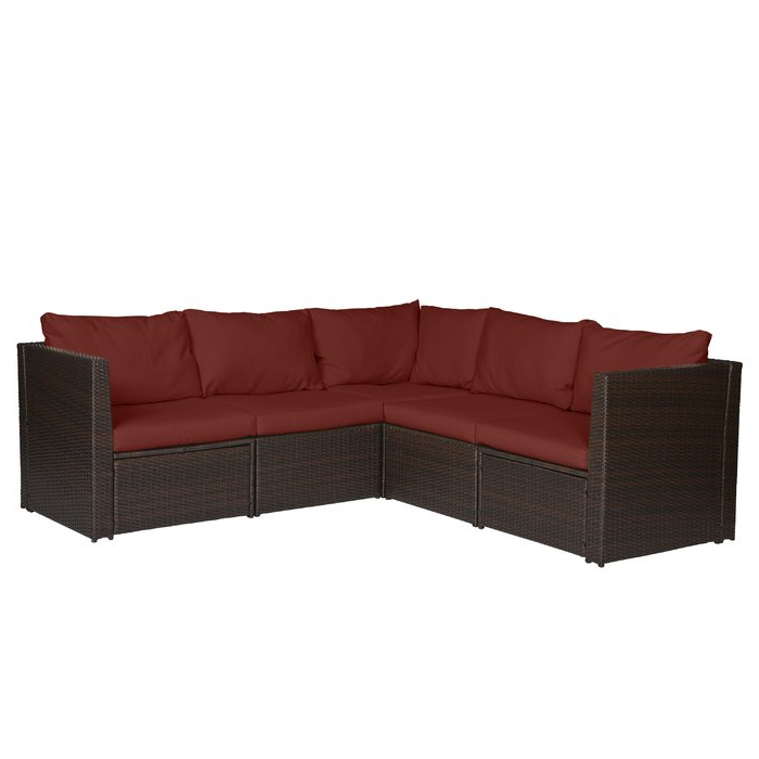 Widely Used Larsen Patio Sectionals With Cushions Intended For Larsen Patio Sectional With Cushions (View 19 of 20)