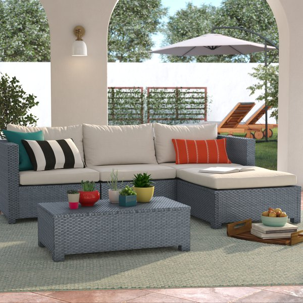 Widely Used Larsen Patio Sectionals With Cushions Regarding Larsen 5 Piece Sectional Seating Group With Cushions (Gallery 6 of 20)