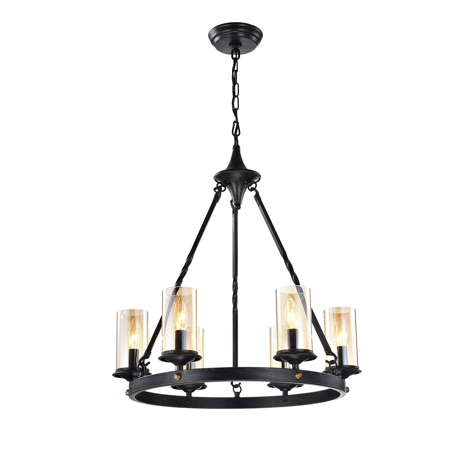 Widely Used Maytown 6 Light Wagon Wheel Chandelier Intended For Pickensville 6 Light Wagon Wheel Chandeliers (Gallery 7 of 20)