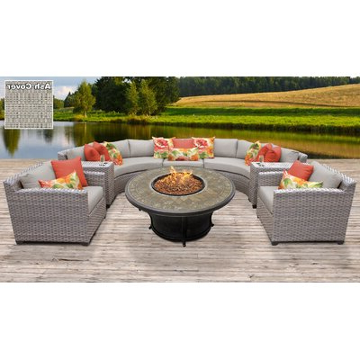 Widely Used Meeks Patio Sofas With Cushions Pertaining To Rosecliff Heights Meeks 8 Piece Sectional Seating Group With (View 19 of 20)
