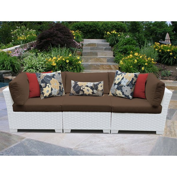Widely Used Monaco Patio Sofa With Cushions Throughout Loggins Patio Sofas With Cushions (Gallery 15 of 21)