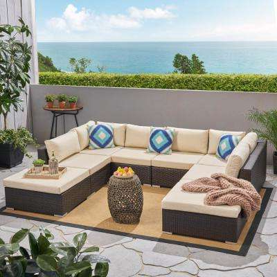 Widely Used Nolen Patio Sectionals With Cushions With Regard To Removable Cushions – Metal – Outdoor Sectionals – Outdoor (Gallery 10 of 20)
