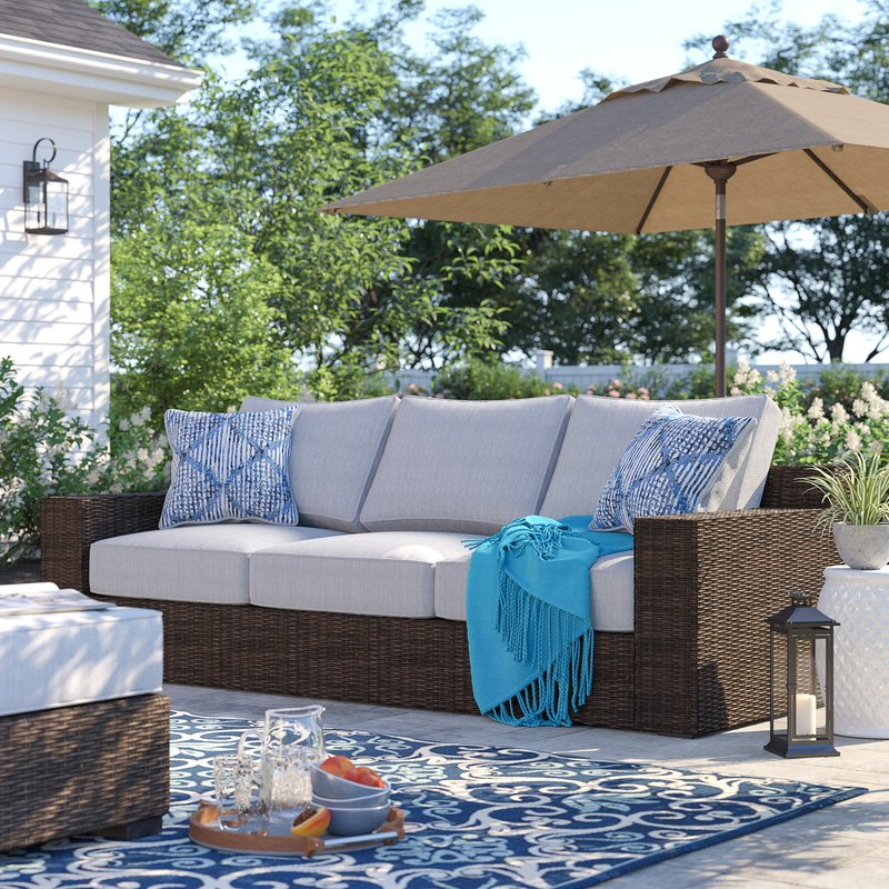 Widely Used Oreland Patio Sofa With Cushions For Oreland Patio Sofas With Cushions (Gallery 1 of 20)