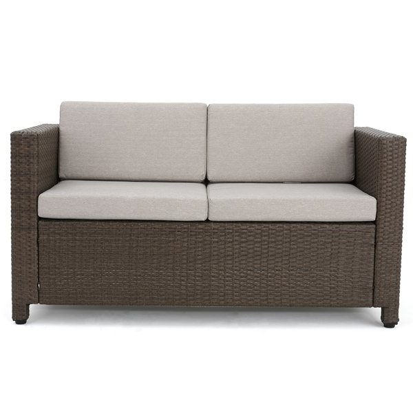 Widely Used Outdoor Loveseat And Ottoman (Gallery 13 of 20)