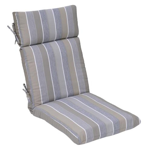 Widely Used Patio Sofas With Cushions In Backyard Creations™ Pacifica Stripe Ultra High Back Patio (Gallery 7 of 20)