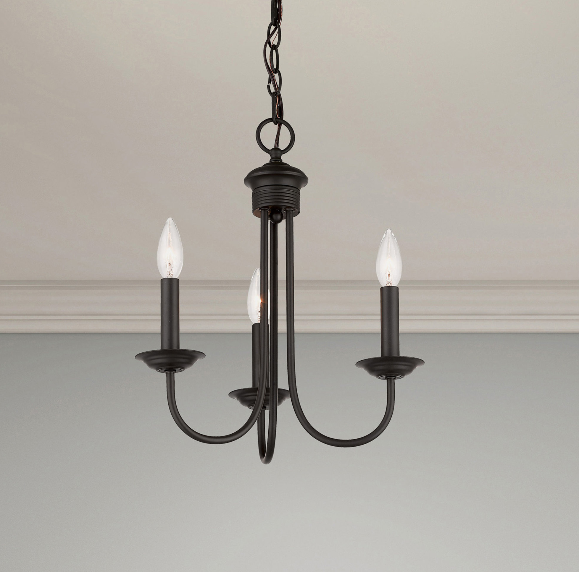 Widely Used Perseus 6 Light Candle Style Chandeliers Regarding Carruthers 3 Light Candle Style Chandelier (View 20 of 20)