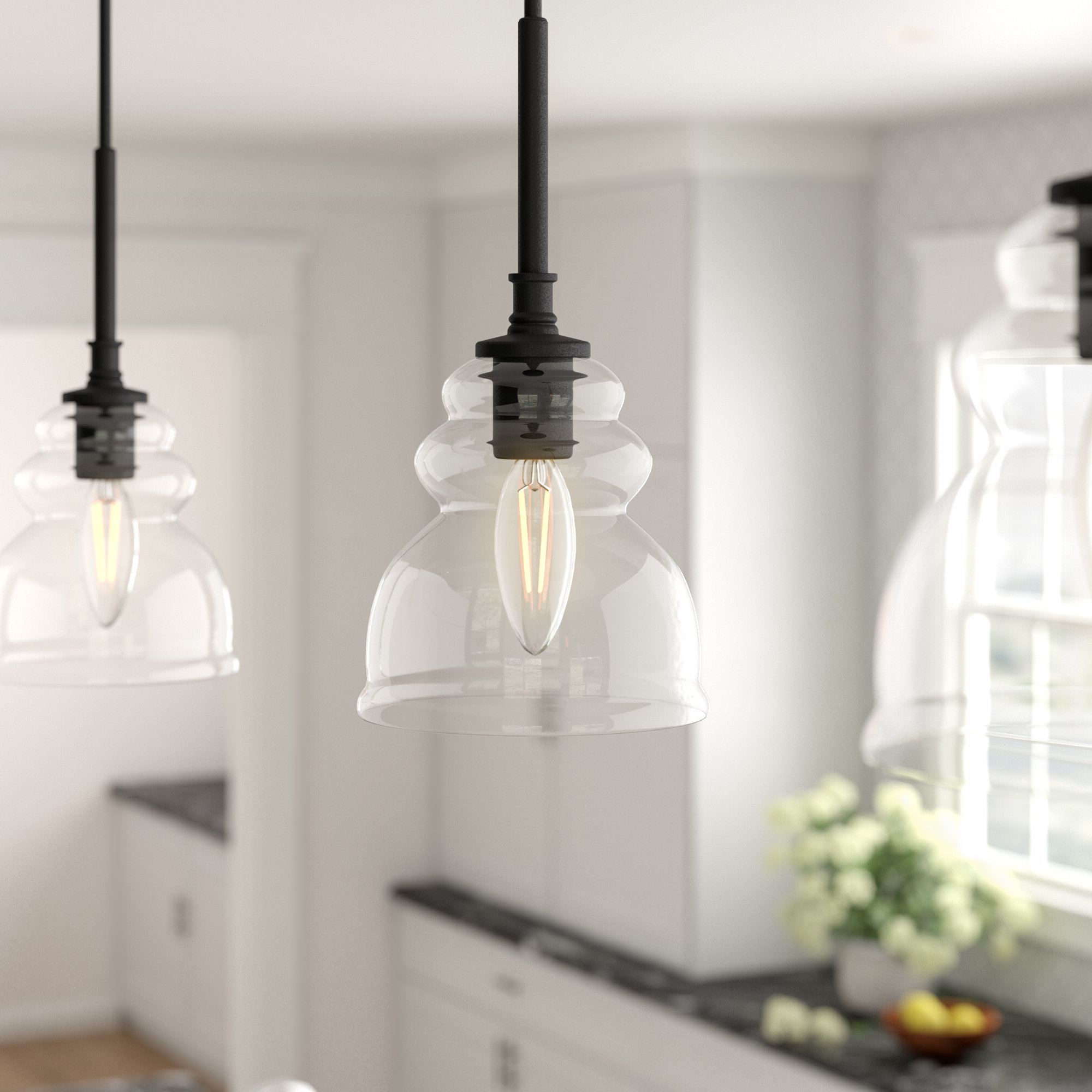 Widely Used Roslindale 1 Light Single Bell Pendants Throughout Arla 1 Light Single Bell Pendant (Gallery 19 of 20)